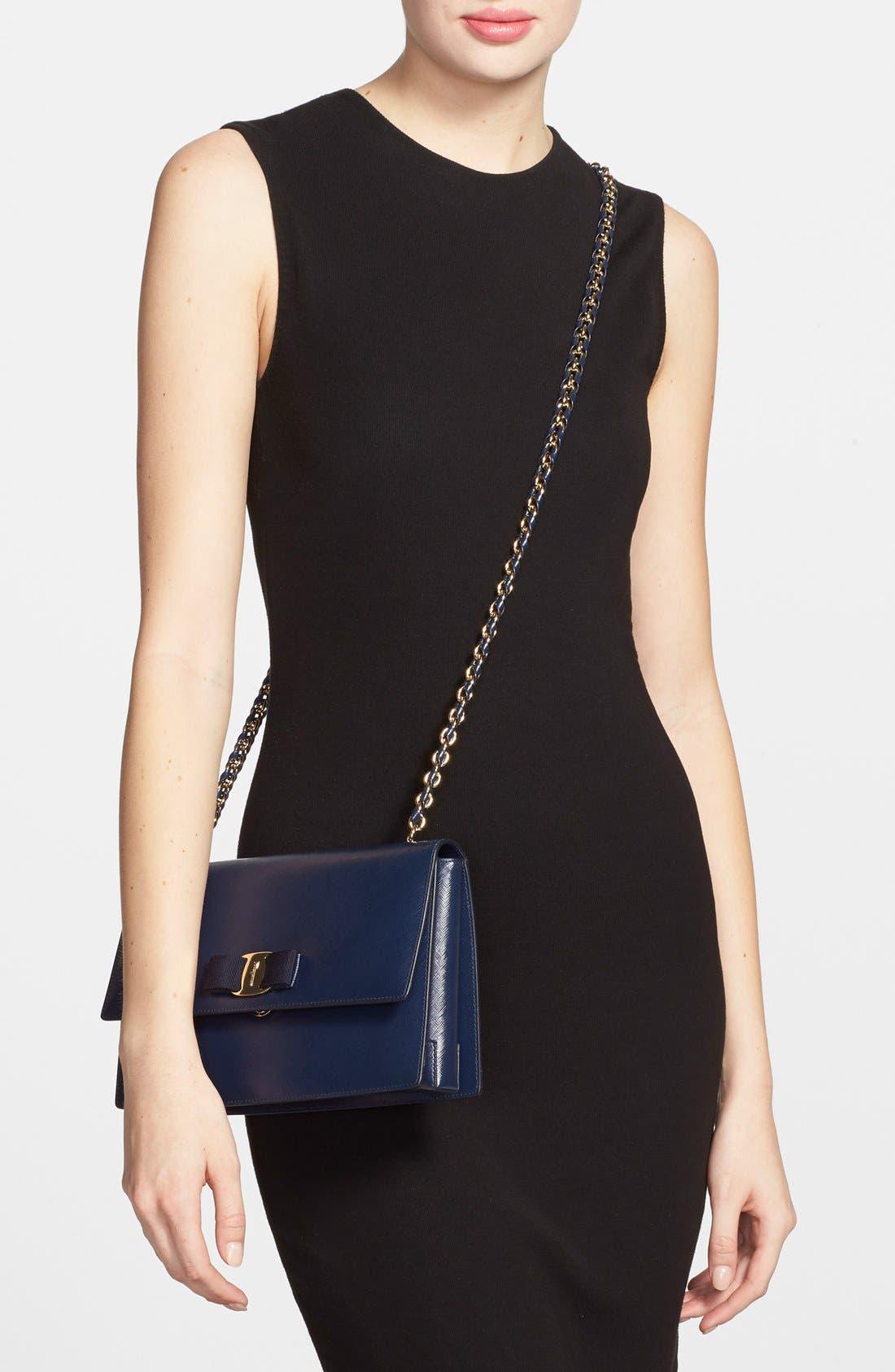 Saffiano Leather Shoulder Bag,                             Alternate thumbnail 7, color,