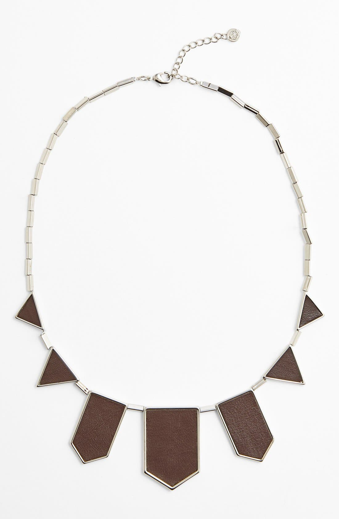 Leather Station Necklace,                             Main thumbnail 5, color,