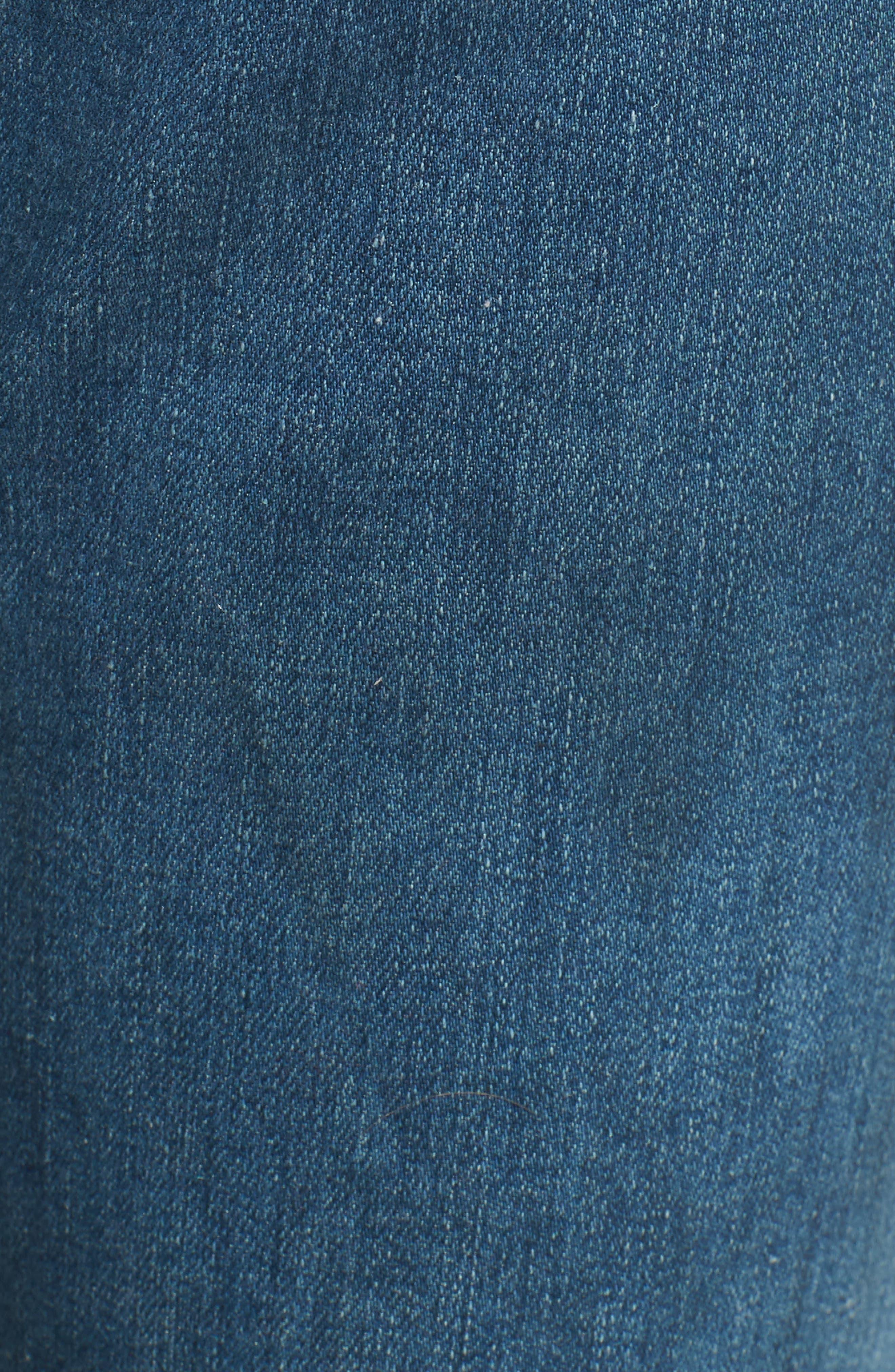 Jodi High Waist Crop Jeans,                             Alternate thumbnail 6, color,                             414