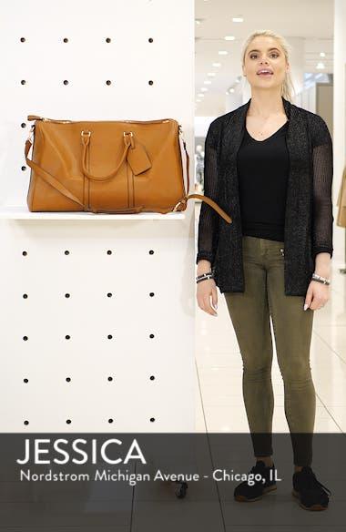 'Lacie' Faux Leather Duffel Bag, sales video thumbnail