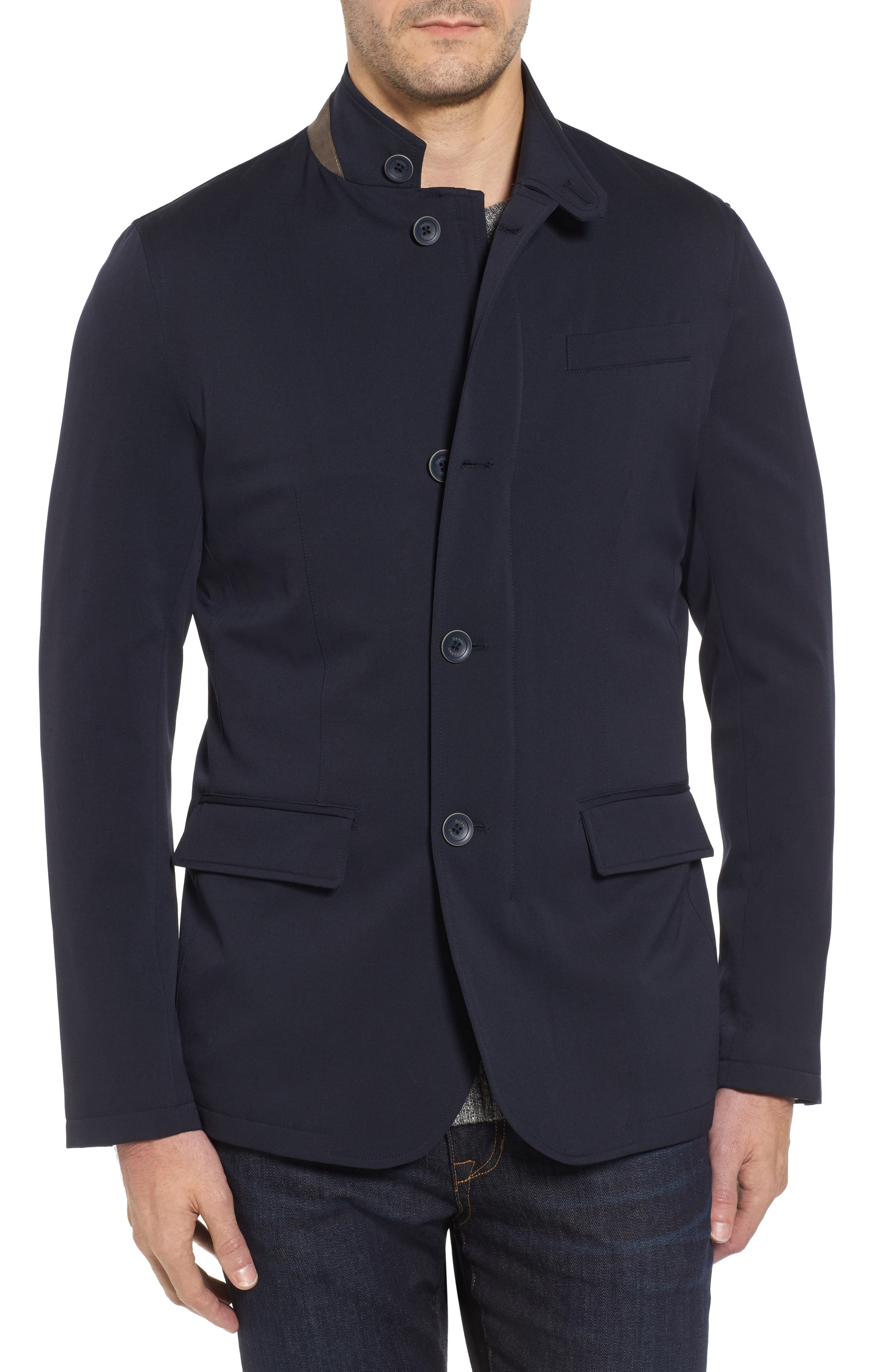 LP High Tenacity Storm Wool Blend Blazer,                         Main,                         color, NAVY