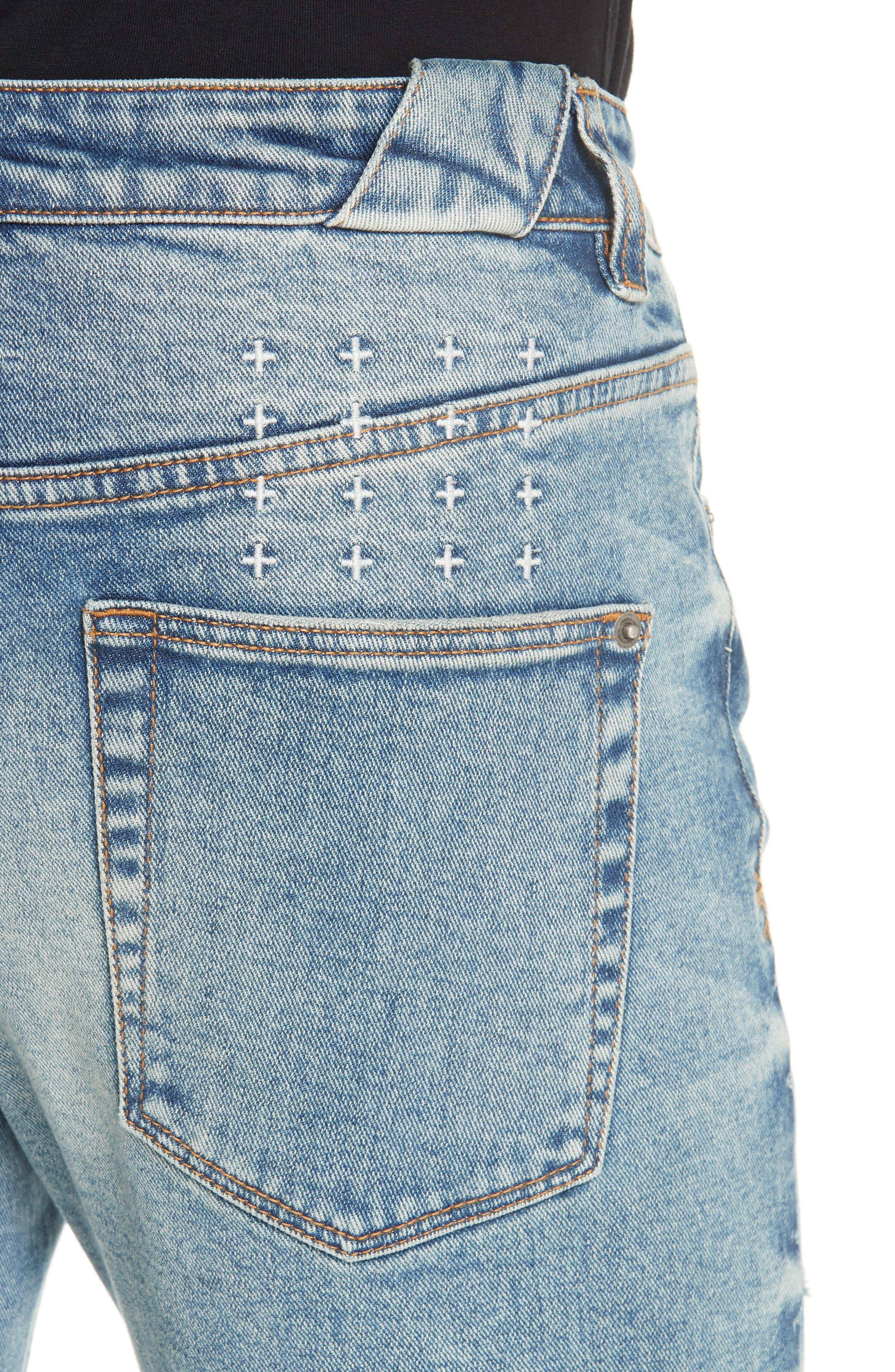 Chitch Pure Dynamite Skinny Fit Jeans,                             Alternate thumbnail 4, color,                             DENIM