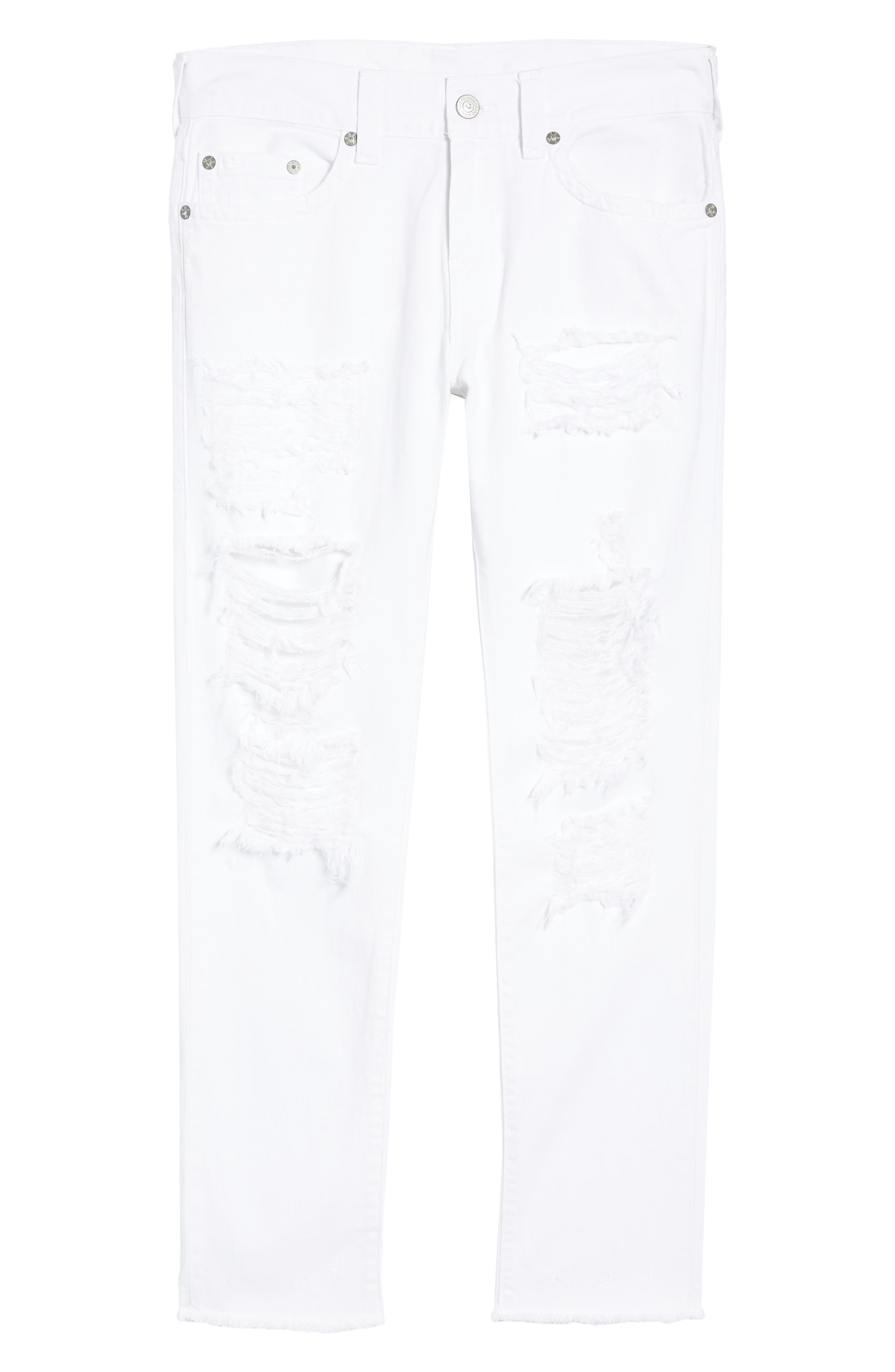 Rocco Skinny Fit jeans,                             Alternate thumbnail 6, color,                             WHITE VOLCANIC ASH