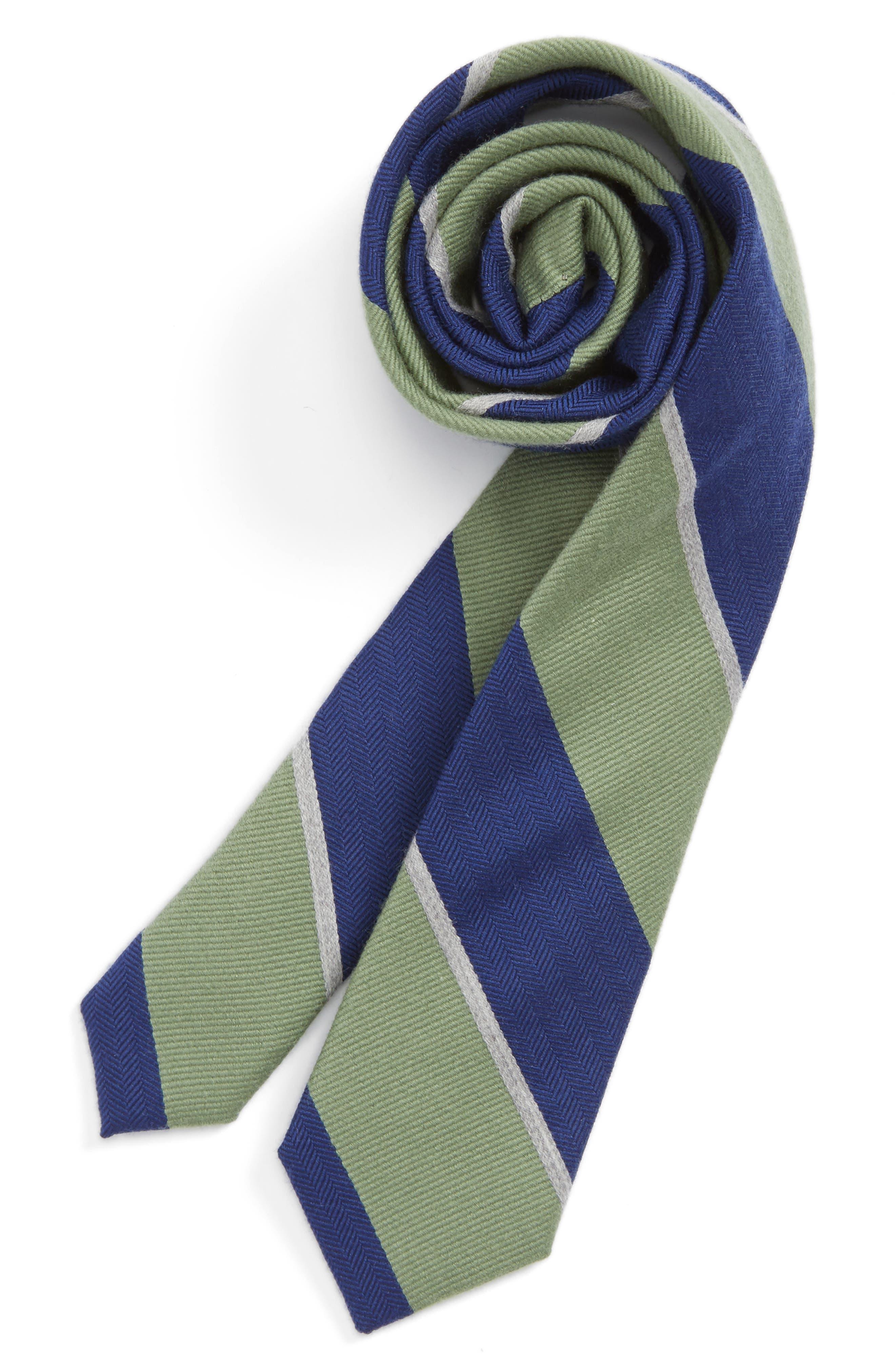Stripe Wool & Silk Tie,                         Main,                         color, 300