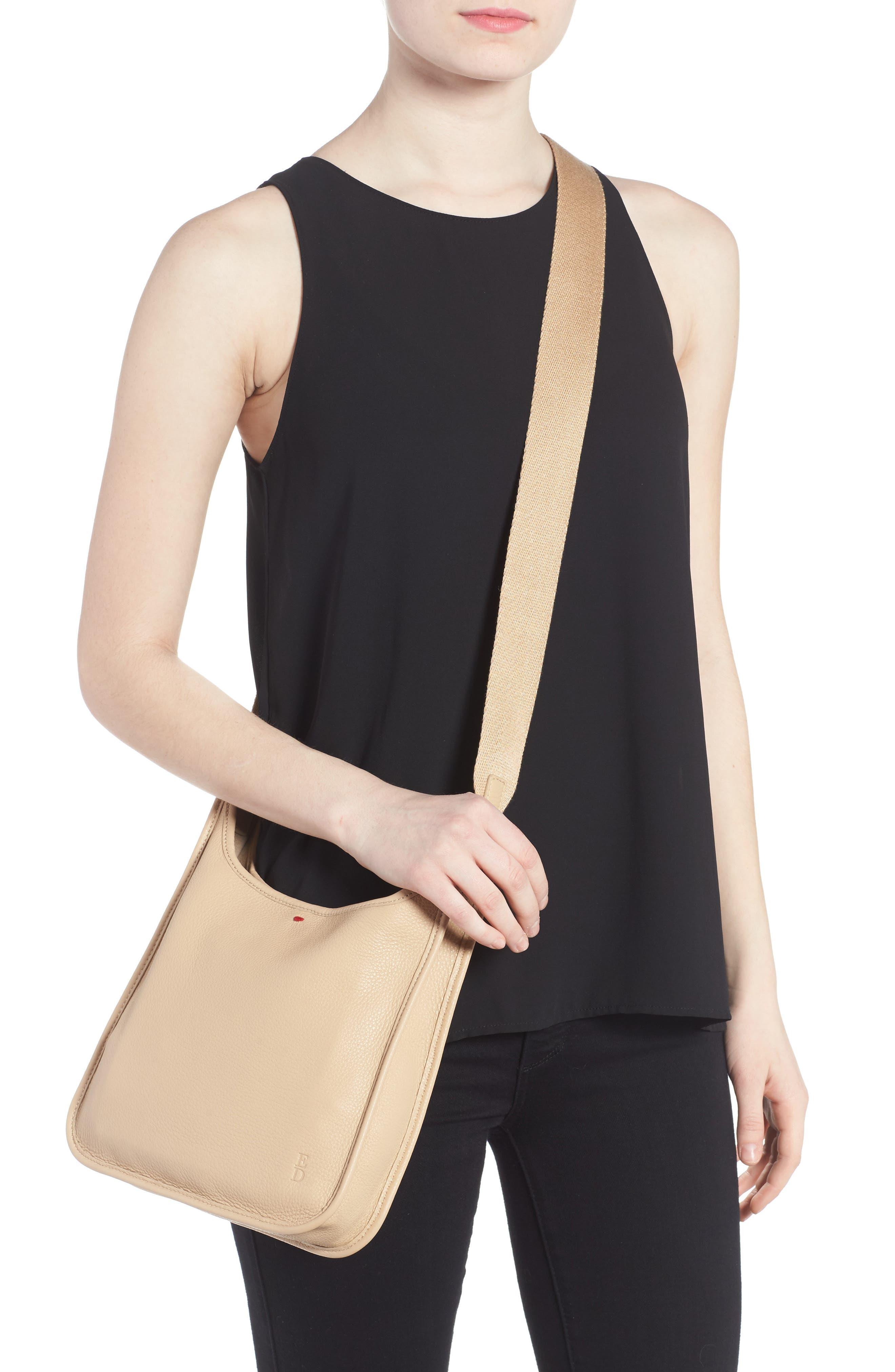 Leather Crossbody Bag,                             Alternate thumbnail 13, color,