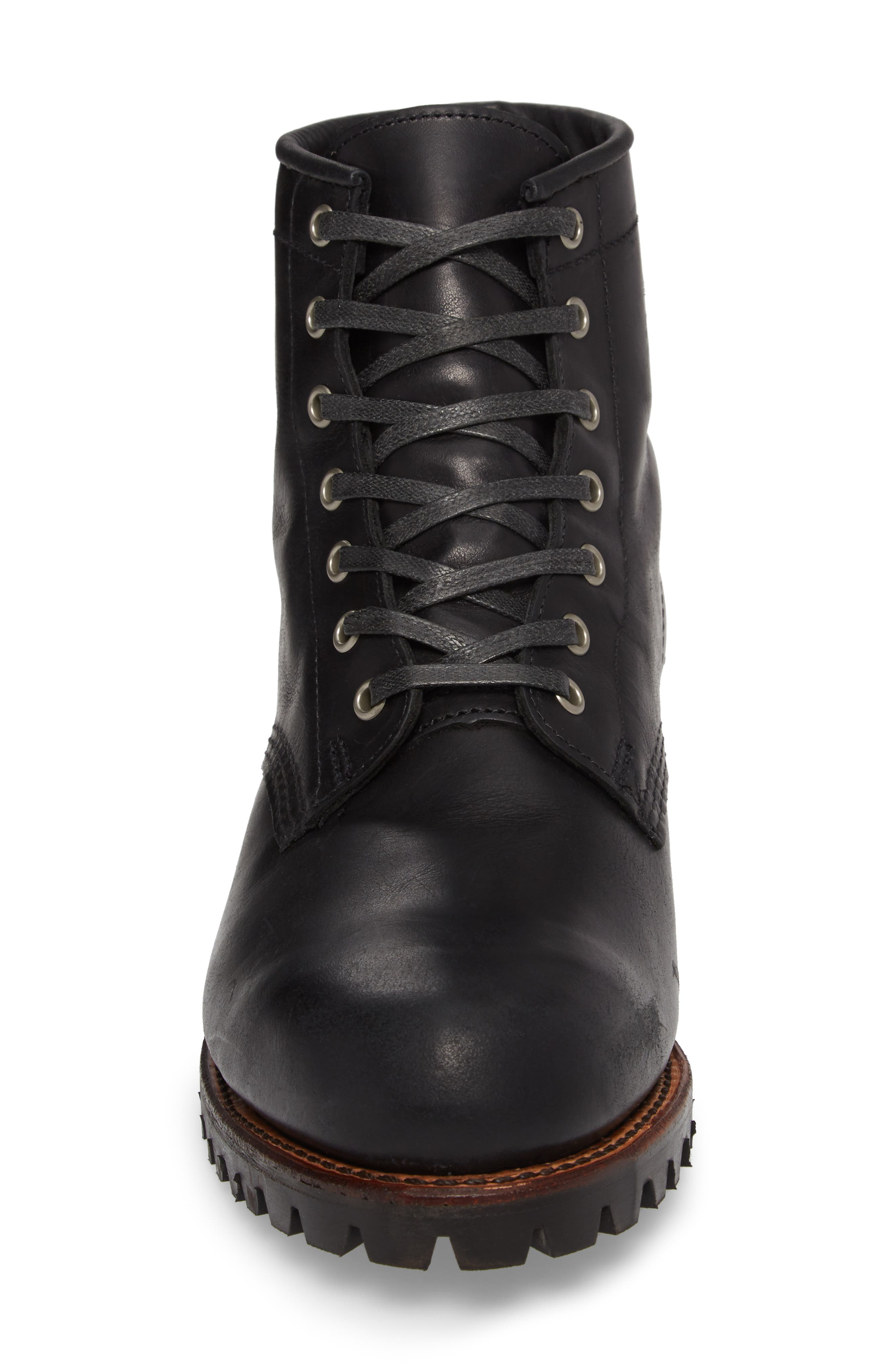Addison Lace-Up Boot,                             Alternate thumbnail 4, color,                             001