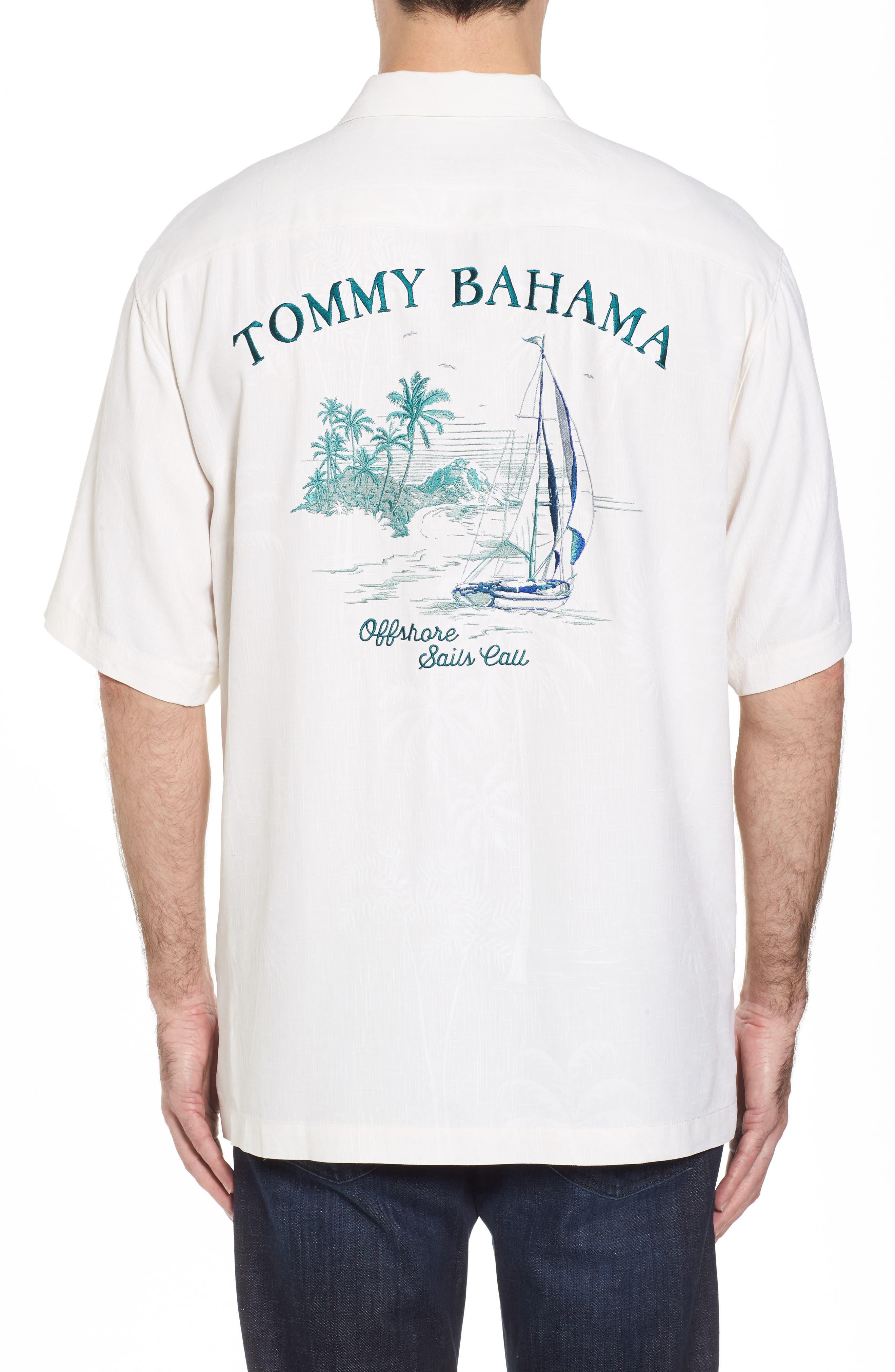Offshore Sails Silk Camp Shirt,                             Alternate thumbnail 2, color,                             100