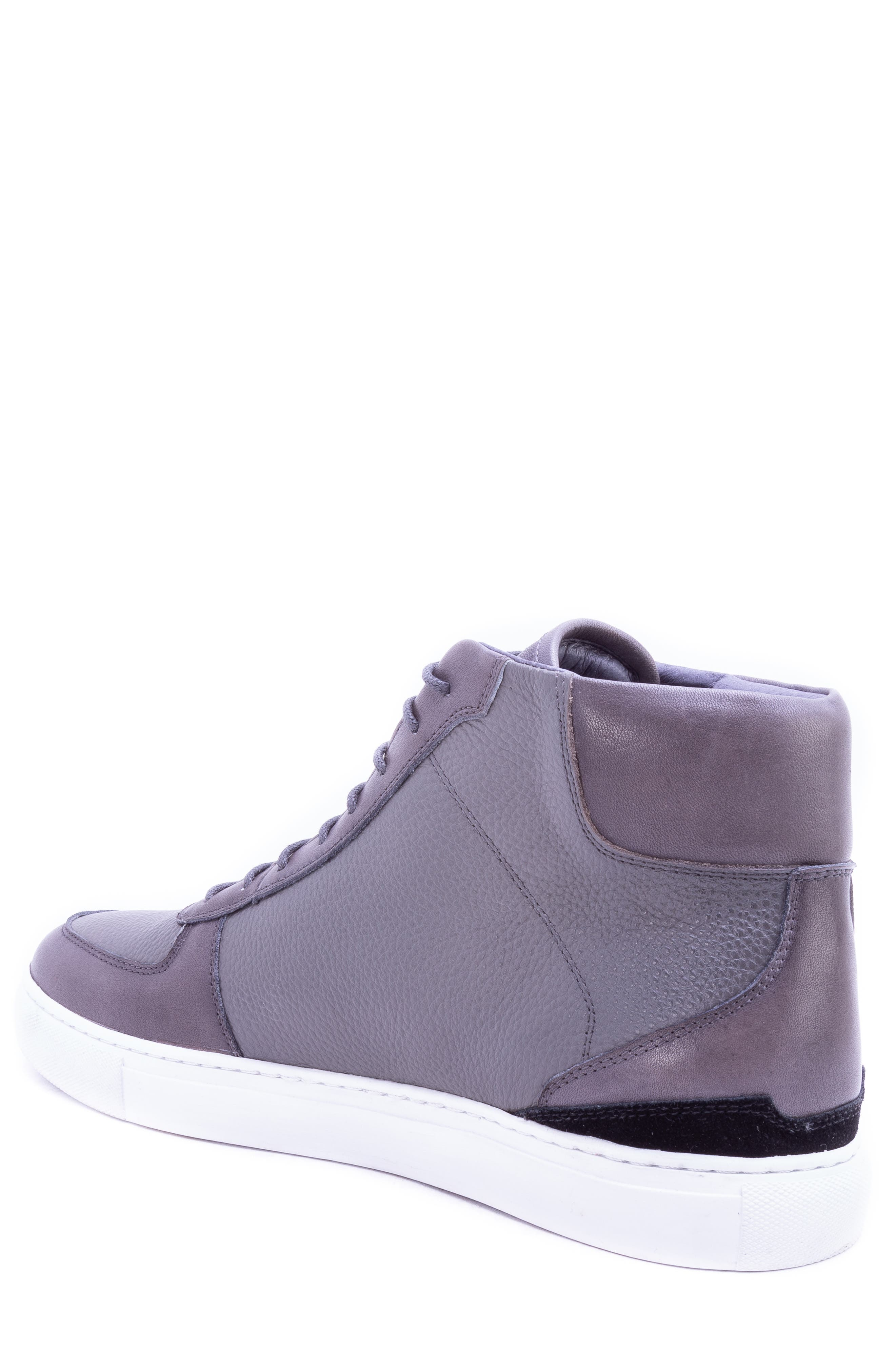 Tassel High Top Sneaker,                             Alternate thumbnail 2, color,                             GREY LEATHER