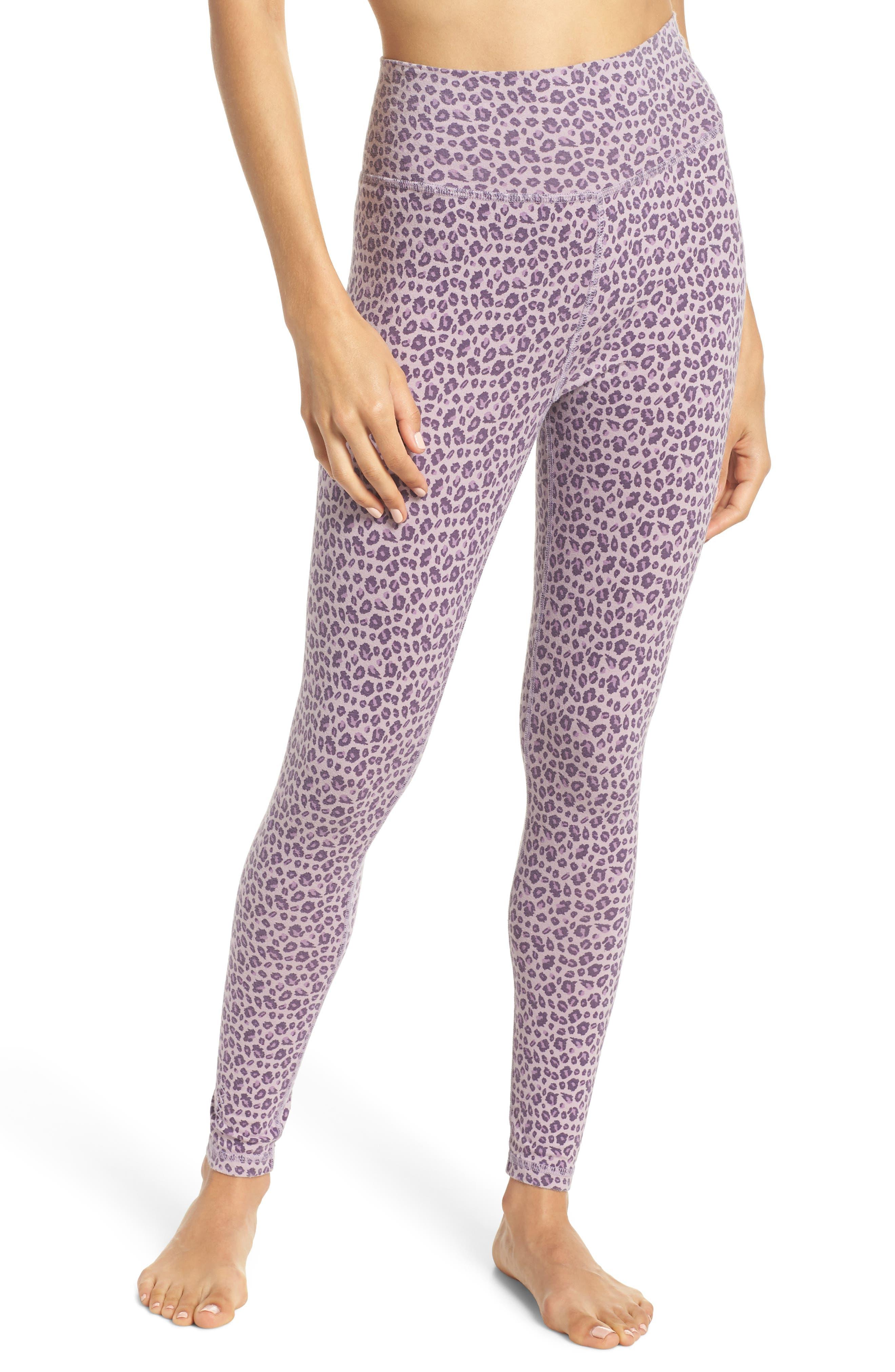 Ragdoll Leopard Print Leggings, Purple