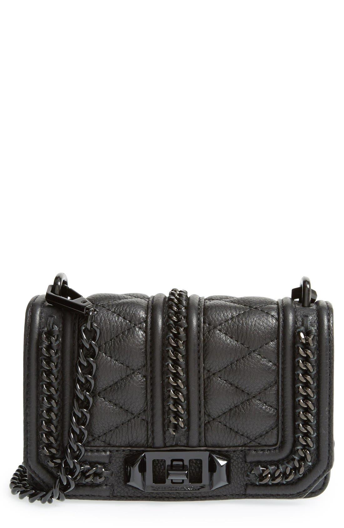 REBECCA MINKOFF 'Mini Love' Crossbody Bag, Main, color, 001