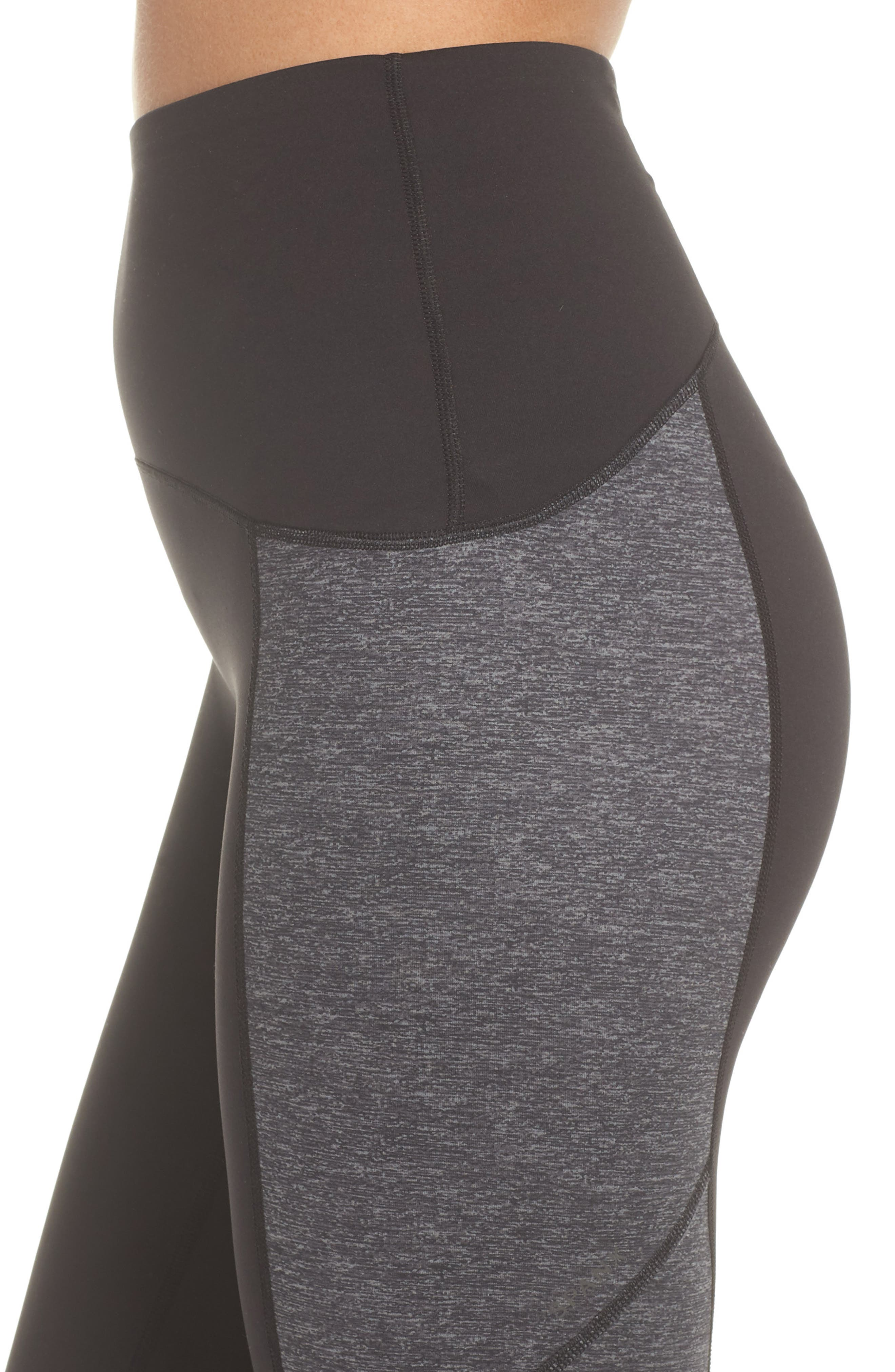 Colorblock Active Leggings,                             Alternate thumbnail 4, color,                             MARLED HEATHER