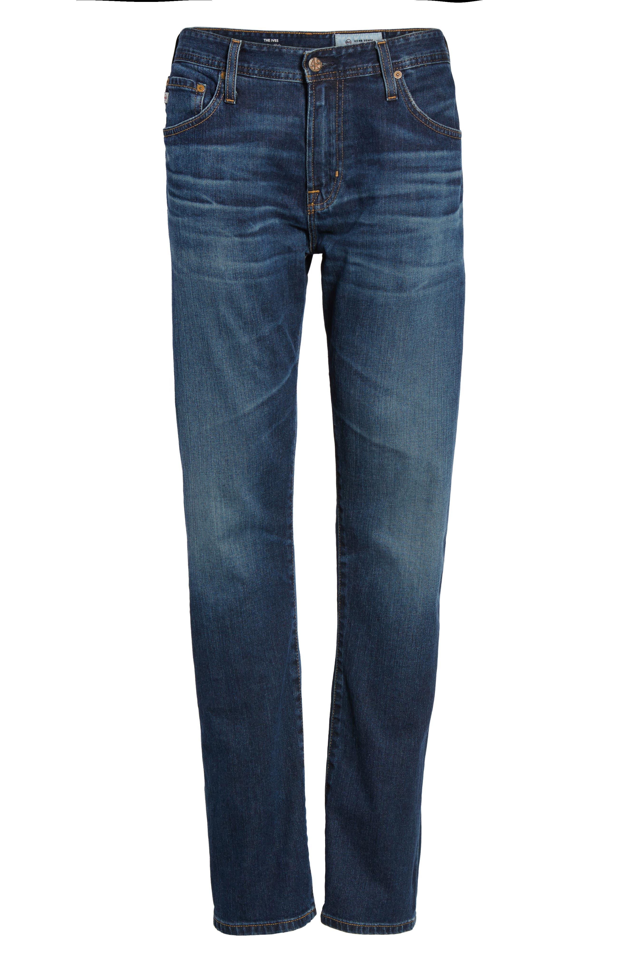 Ives Straight Leg Jeans,                             Alternate thumbnail 6, color,                             478