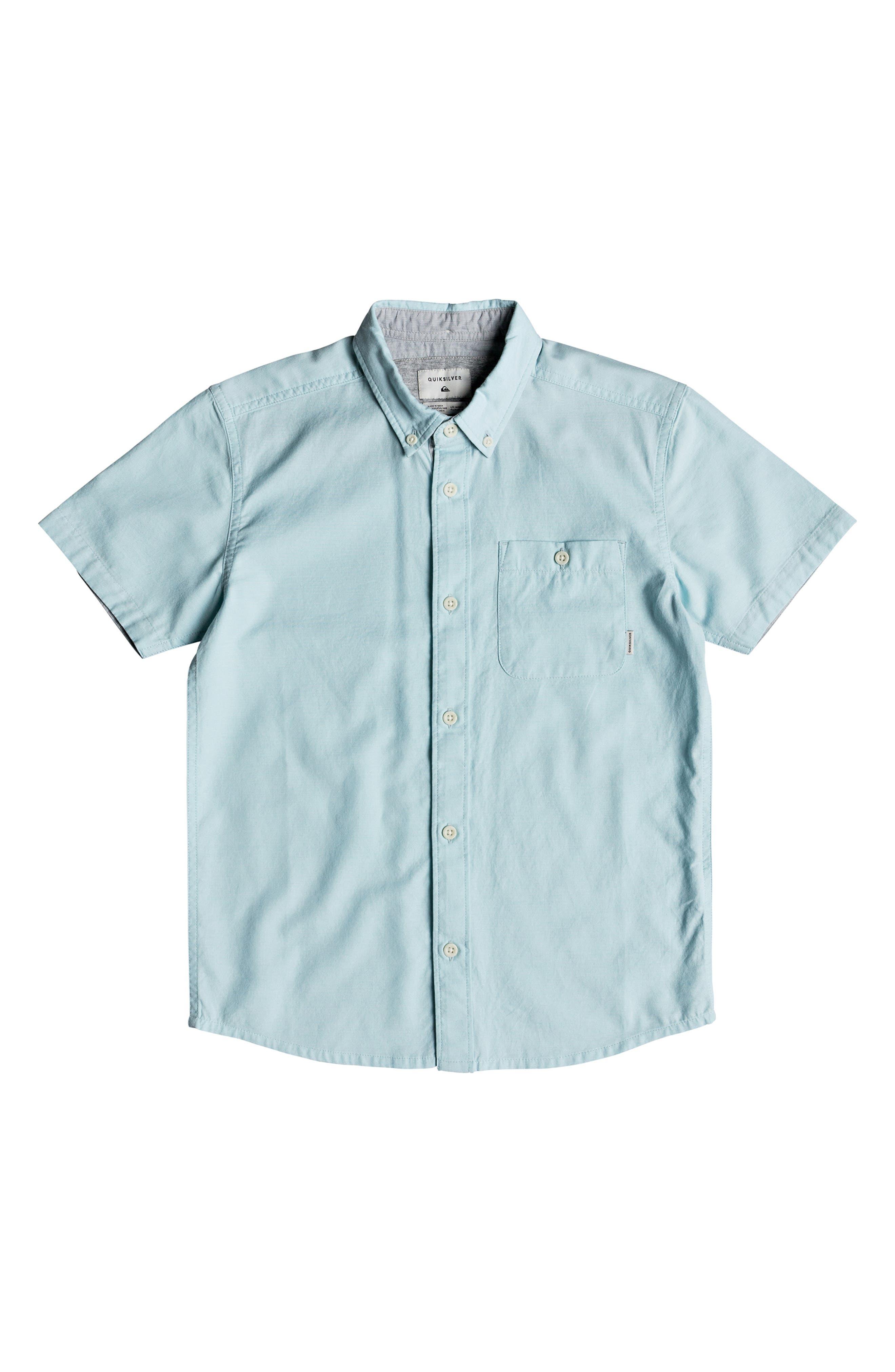 Waterfalls Woven Shirt,                         Main,                         color, AQUATIC