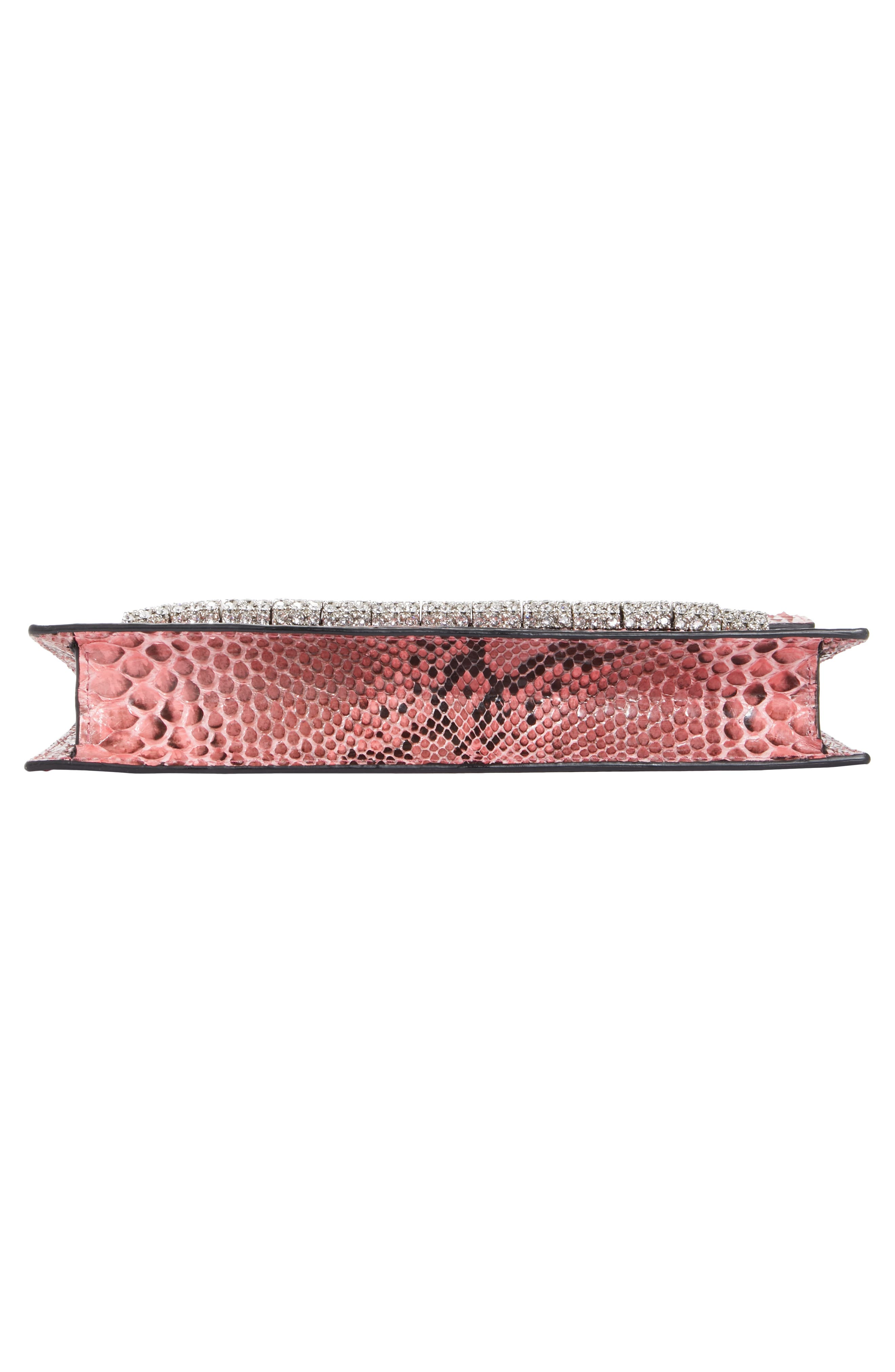 Crystal Strap Genuine Python Clutch,                             Alternate thumbnail 6, color,                             686