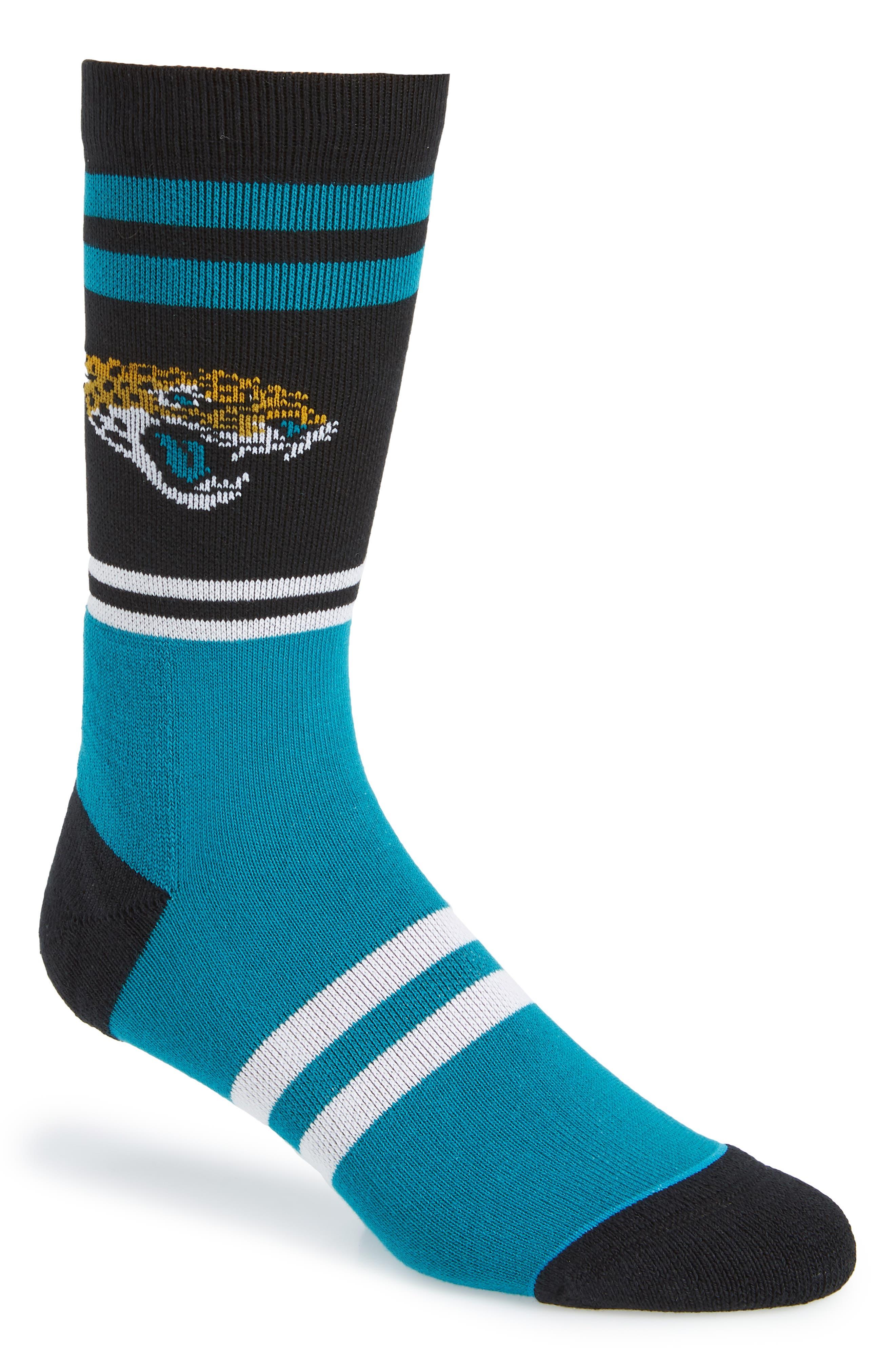 Jacksonville Jaguars Socks,                             Main thumbnail 1, color,                             BLACK