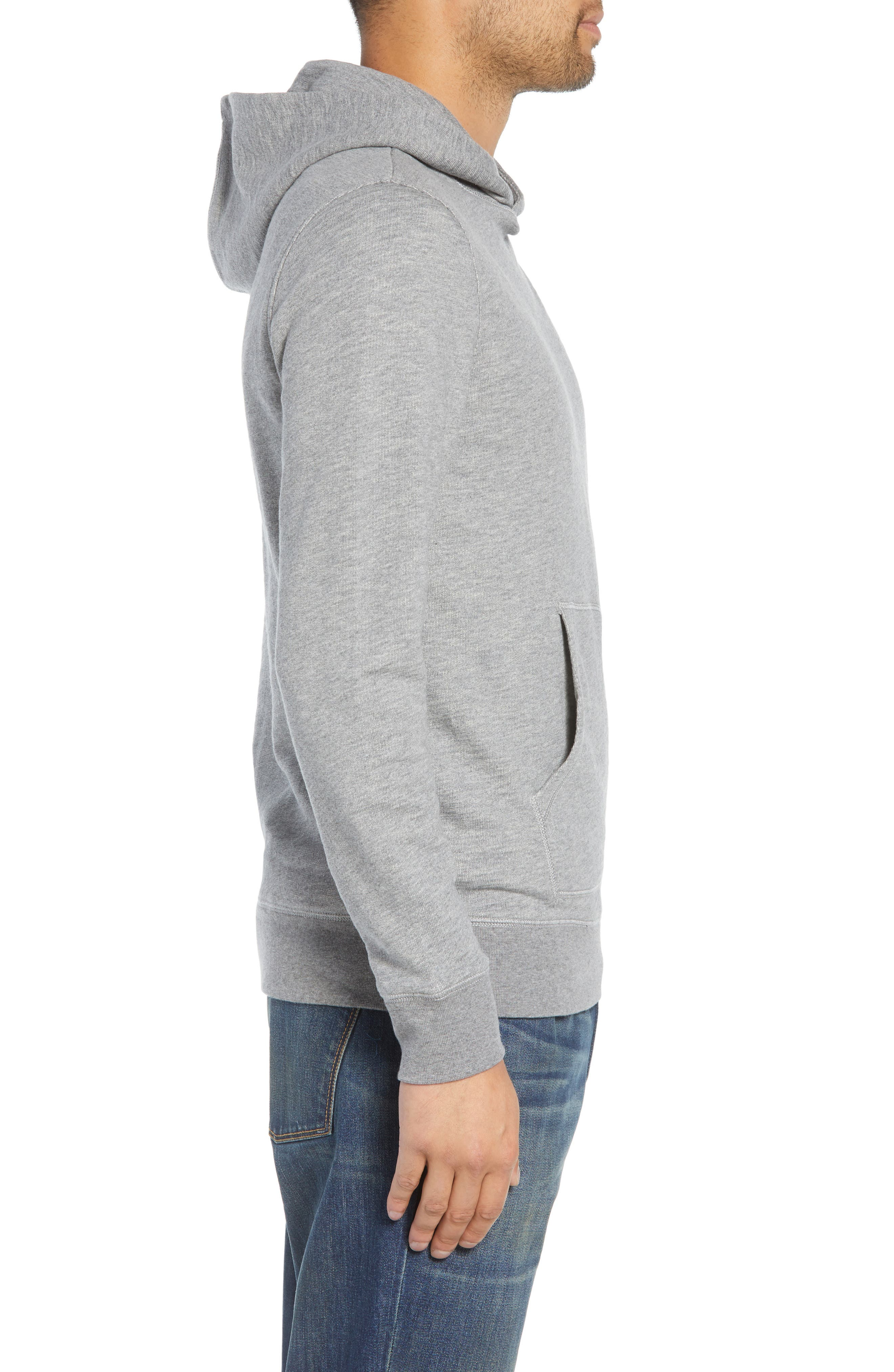 Regular Fit French Terry Pullover Hoodie,                             Alternate thumbnail 3, color,                             030