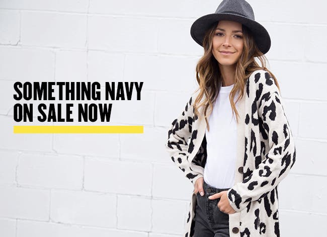 Something Navy on sale now.