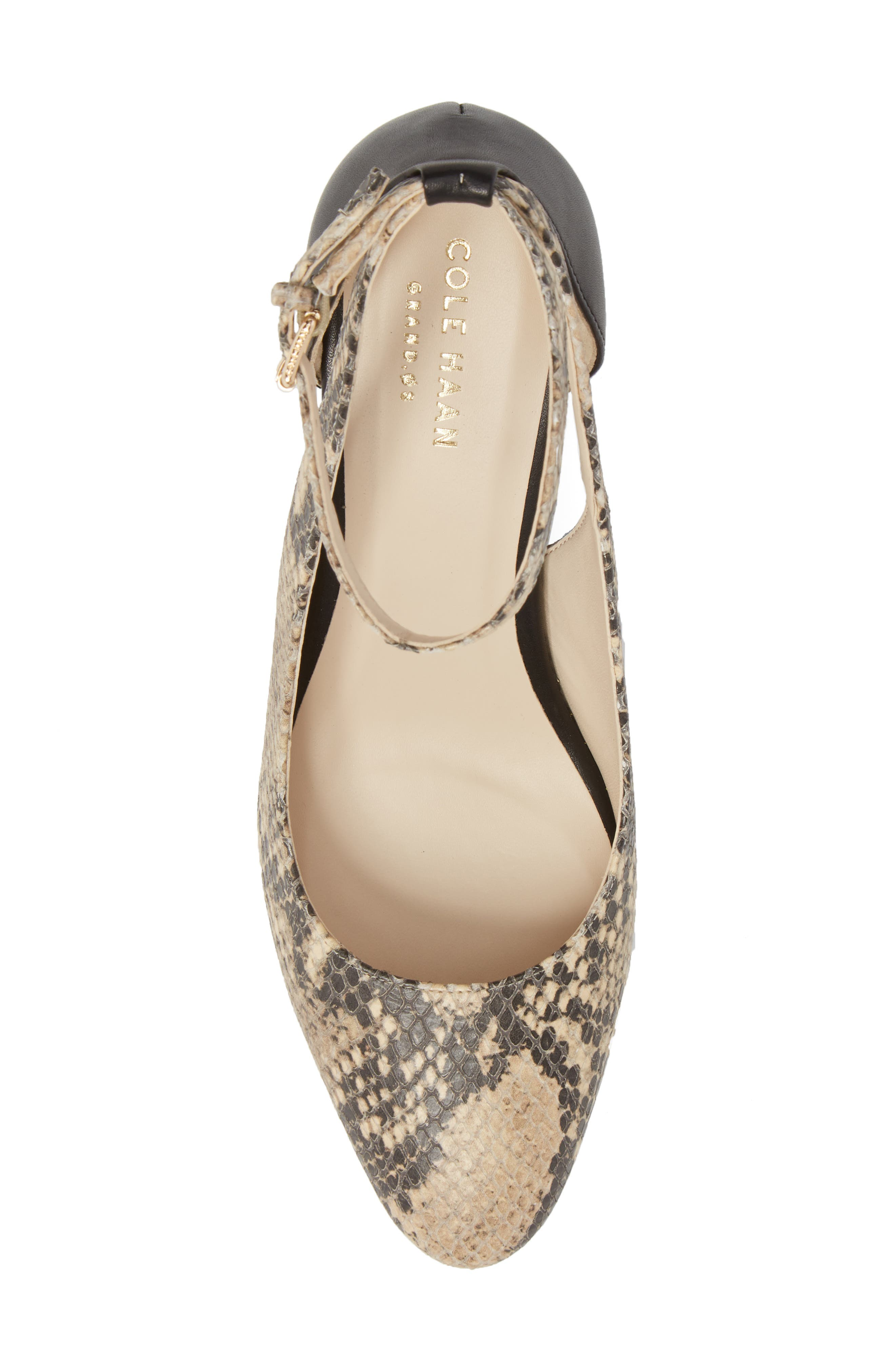 Lacey Cutout Wedge Pump,                             Alternate thumbnail 5, color,                             SNAKE PRINT LEATHER