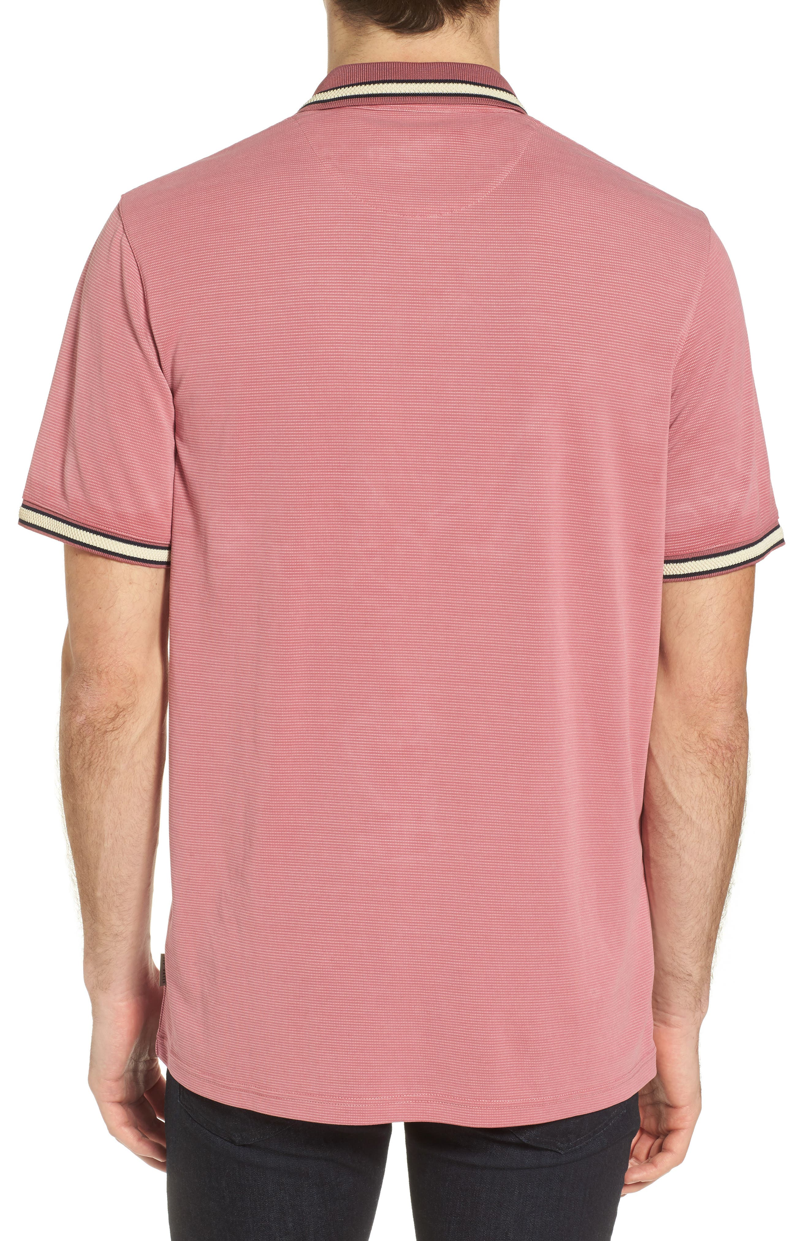Chumm Trim Fit Birdseye Polo,                             Alternate thumbnail 2, color,                             PINK