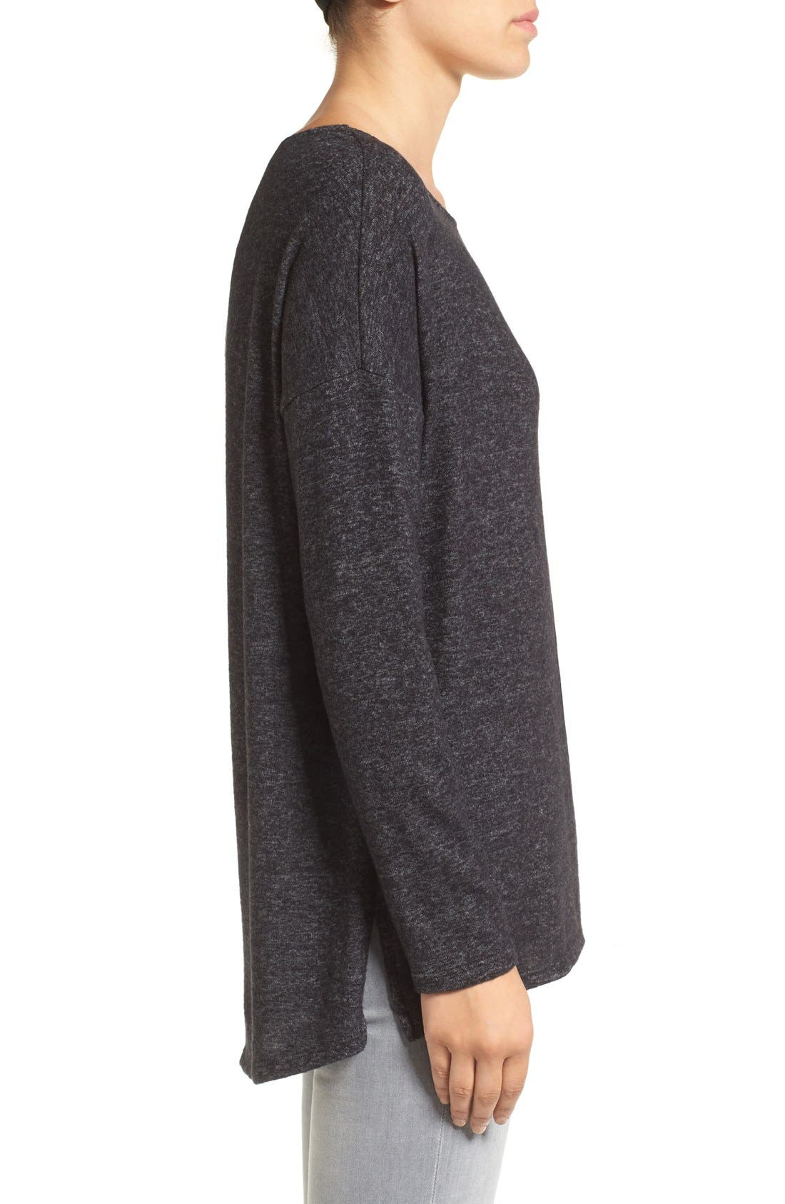 Cozy Ballet Neck High/Low Pullover,                             Alternate thumbnail 42, color,