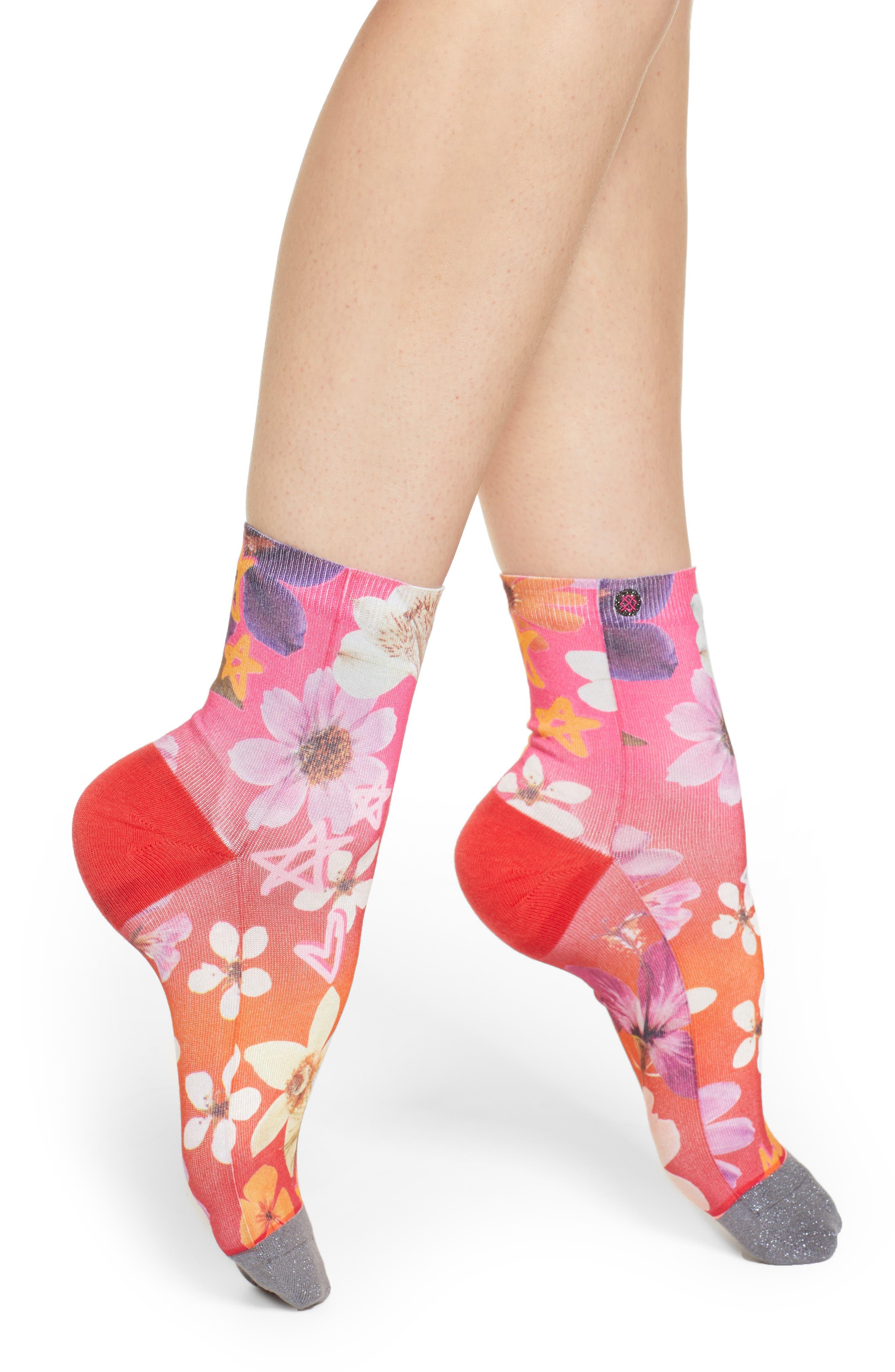 STANCE Garden Goddess Socks in Pink