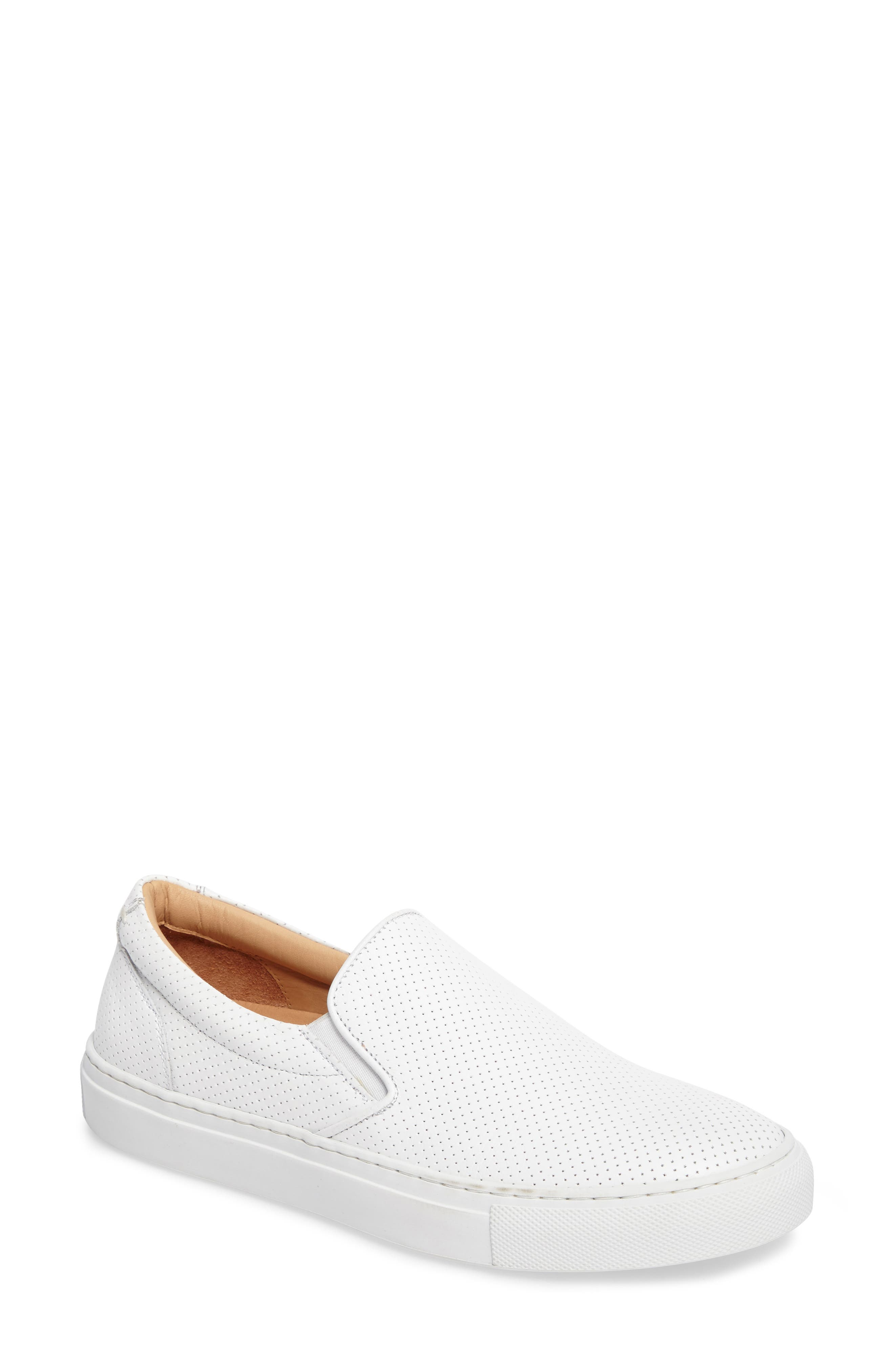 Wooster Slip-On Sneaker,                         Main,                         color, WHITE PERFORATED