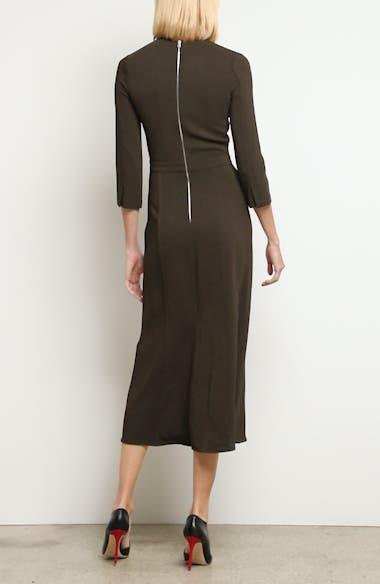 Paneled Cady Midi Dress, video thumbnail
