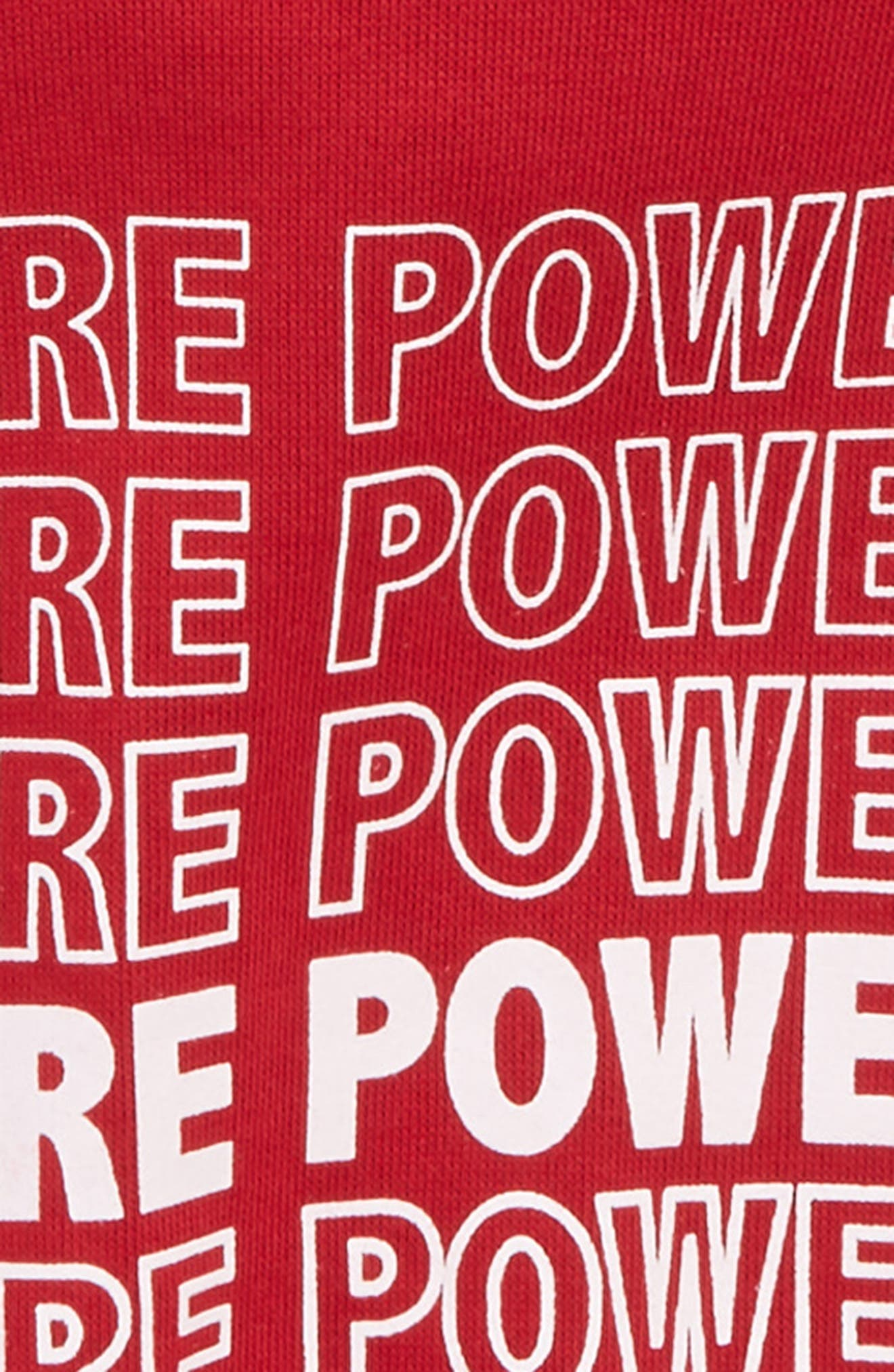 Girls Are Powerful Hoodie,                             Alternate thumbnail 2, color,                             RED