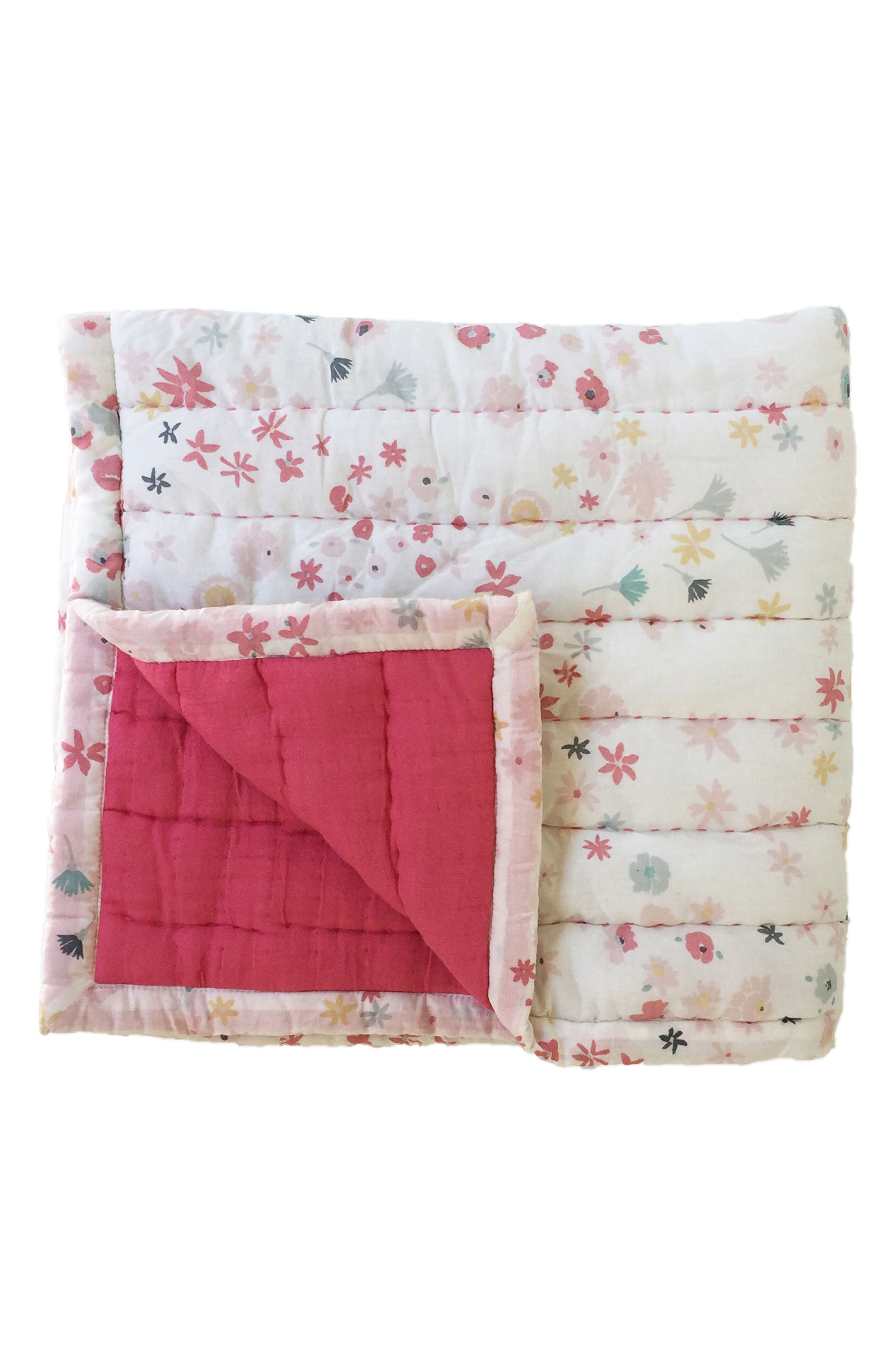 Meadow Print Quilt,                             Main thumbnail 1, color,                             PINK