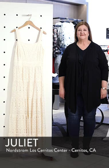Tiered Lace Maxi Dress, sales video thumbnail