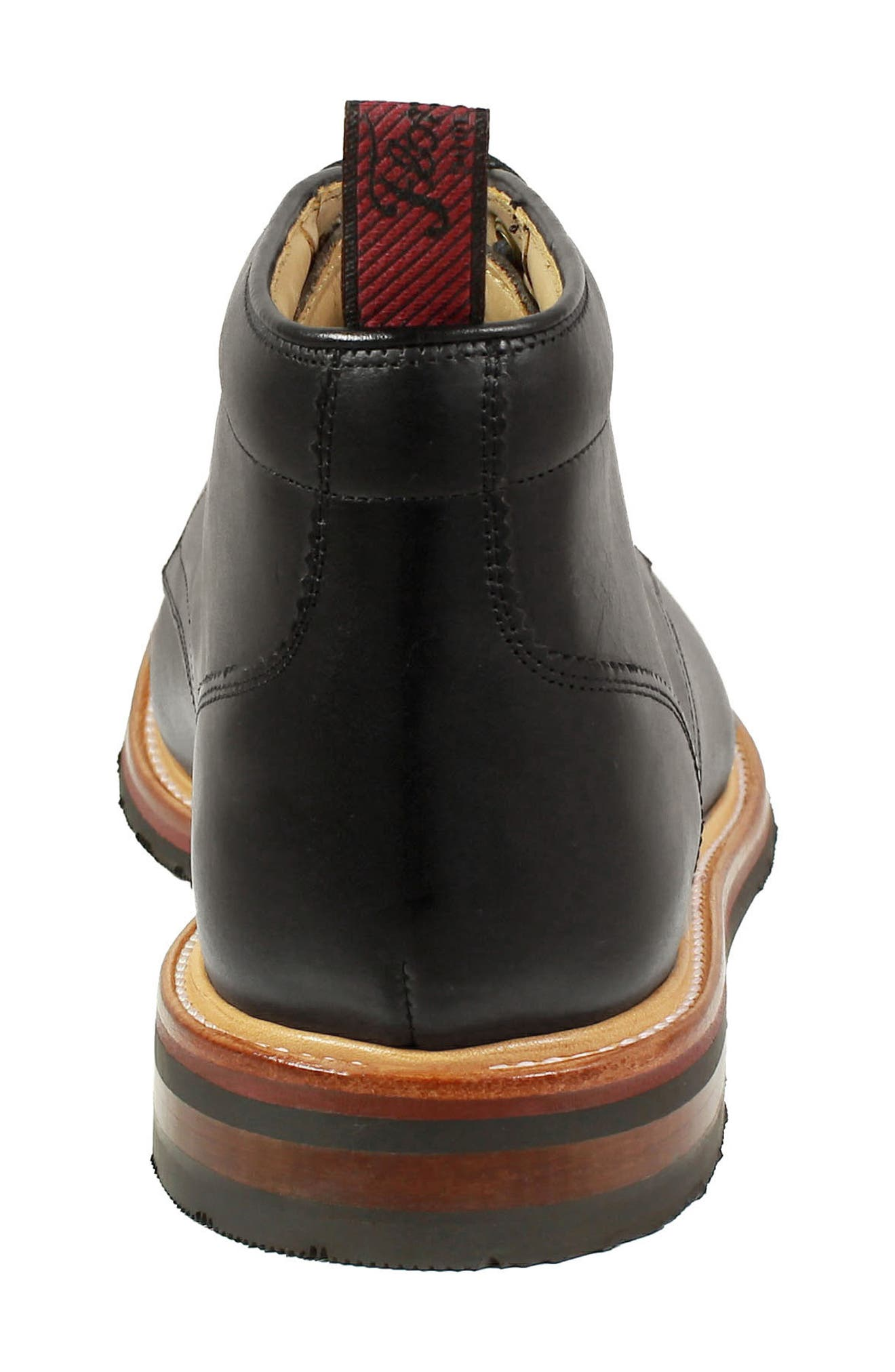 Foundry Leather Boot,                             Alternate thumbnail 6, color,                             BLACK LEATHER