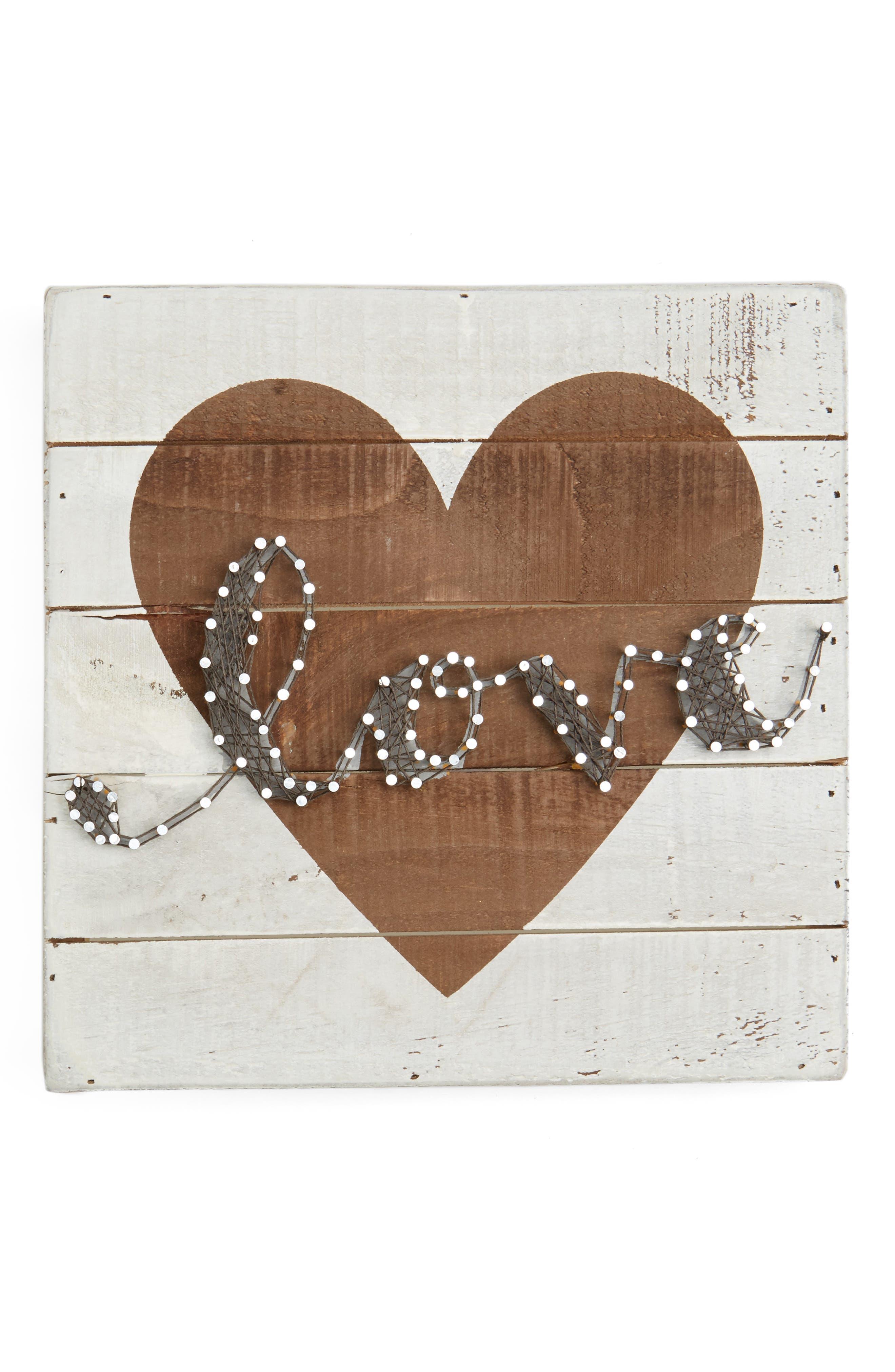 Love String Art Box Sign,                             Main thumbnail 1, color,                             900