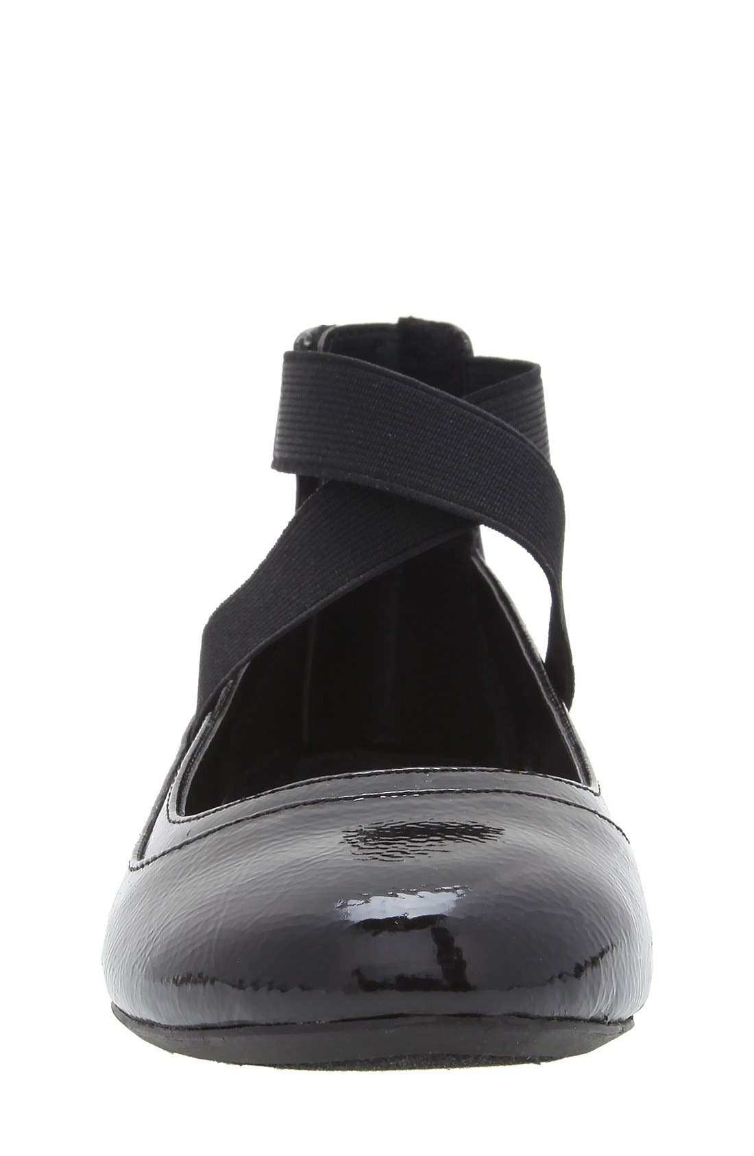 'Alicea' Ankle Strap Ballet Flat,                             Alternate thumbnail 5, color,                             004