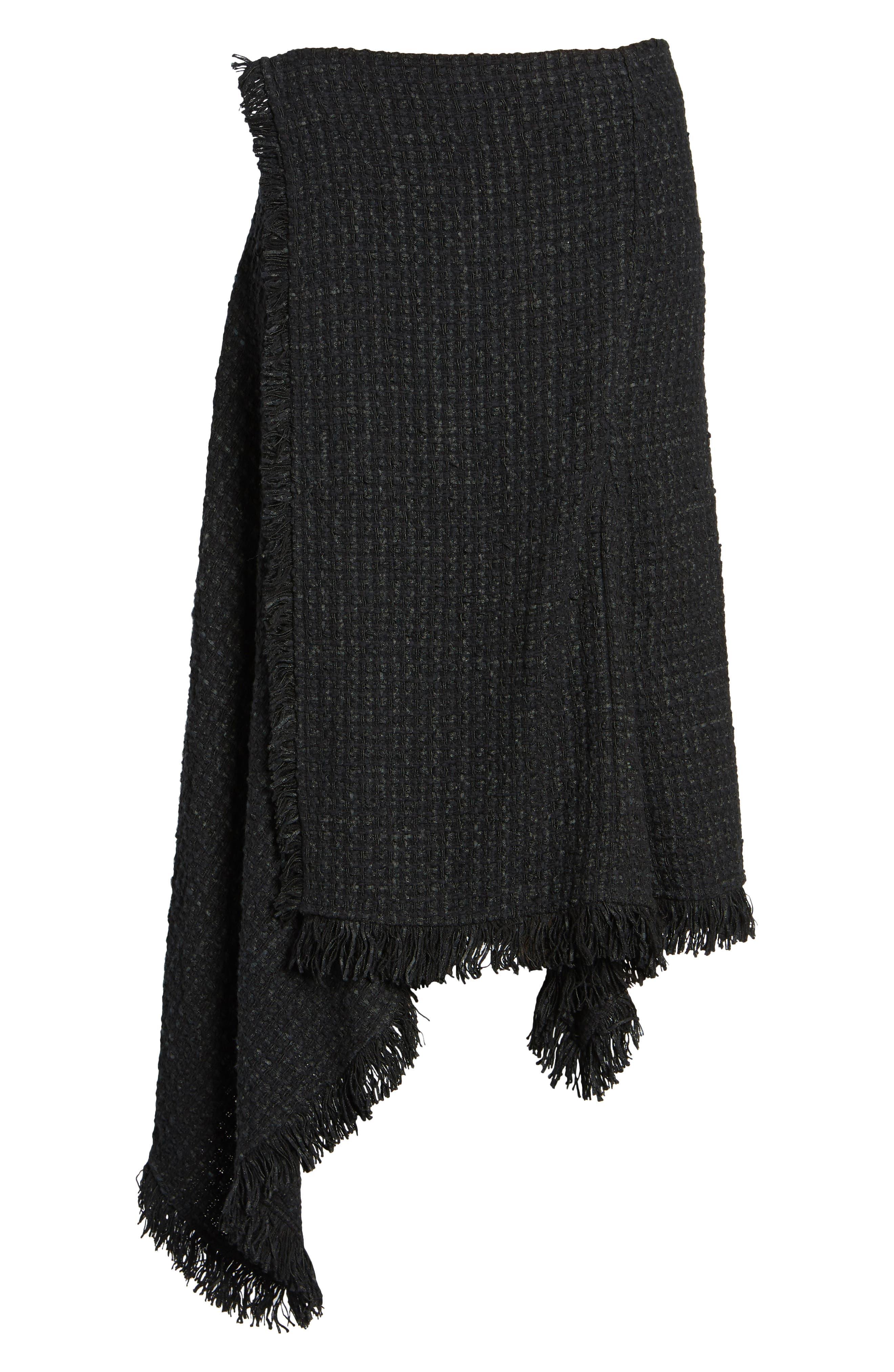 NIC + ZOE Majestic Tweed Skirt,                             Alternate thumbnail 6, color,                             004