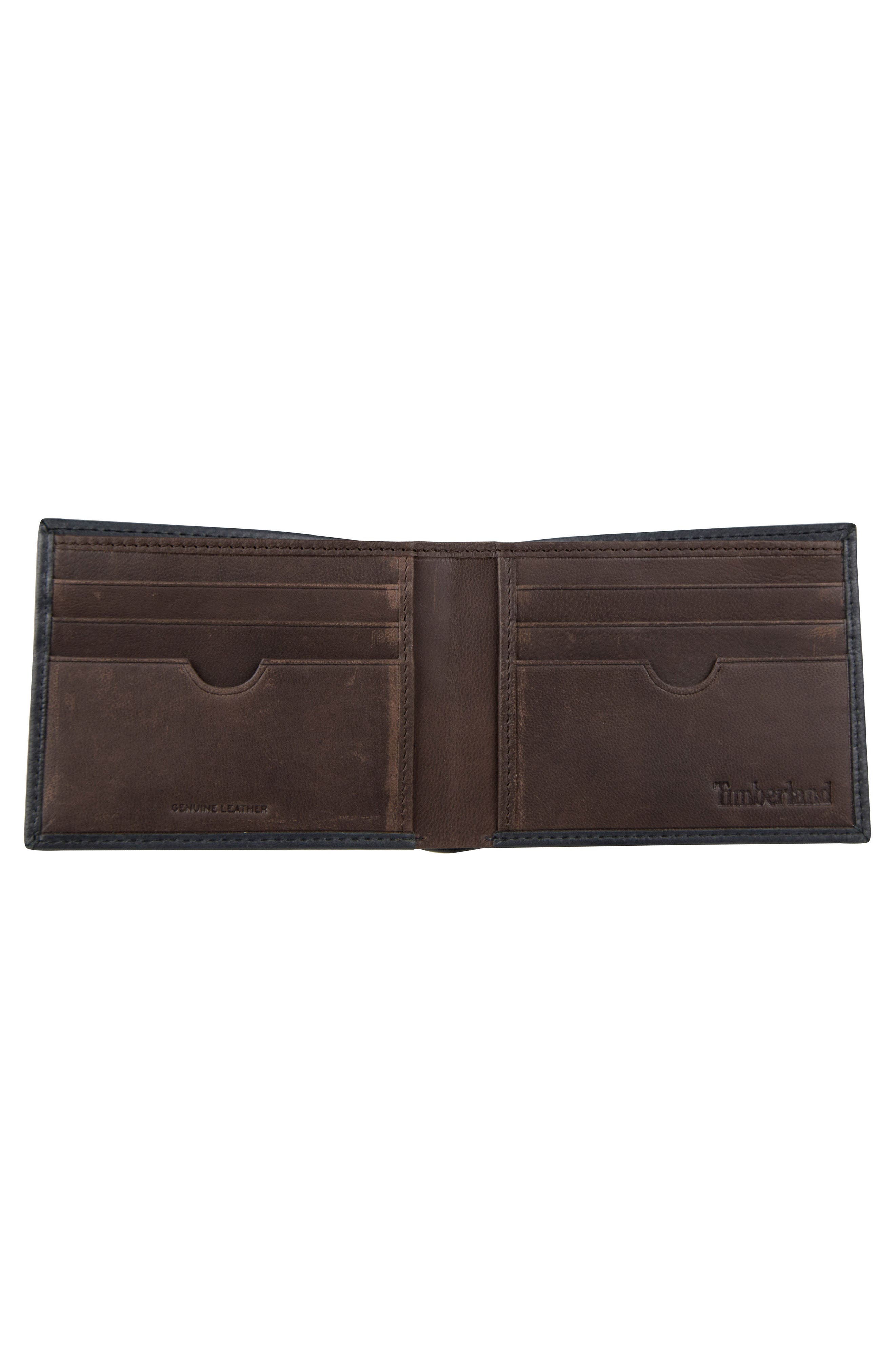 Cloudy Leather Wallet,                             Alternate thumbnail 2, color,                             BLACK