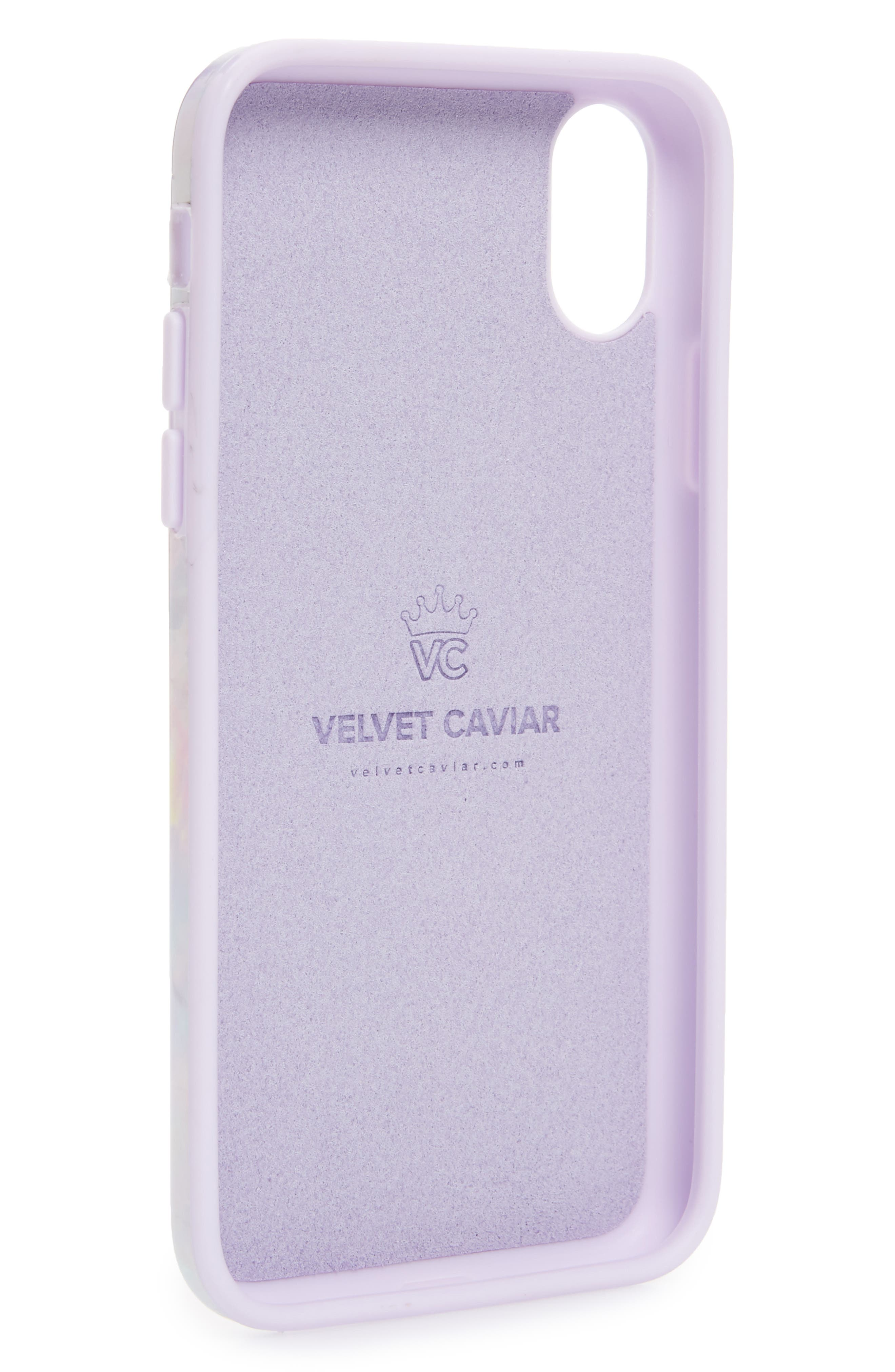 VELVET CAVIAR,                             Cotton Candy Marble iPhone X Case,                             Alternate thumbnail 2, color,                             650