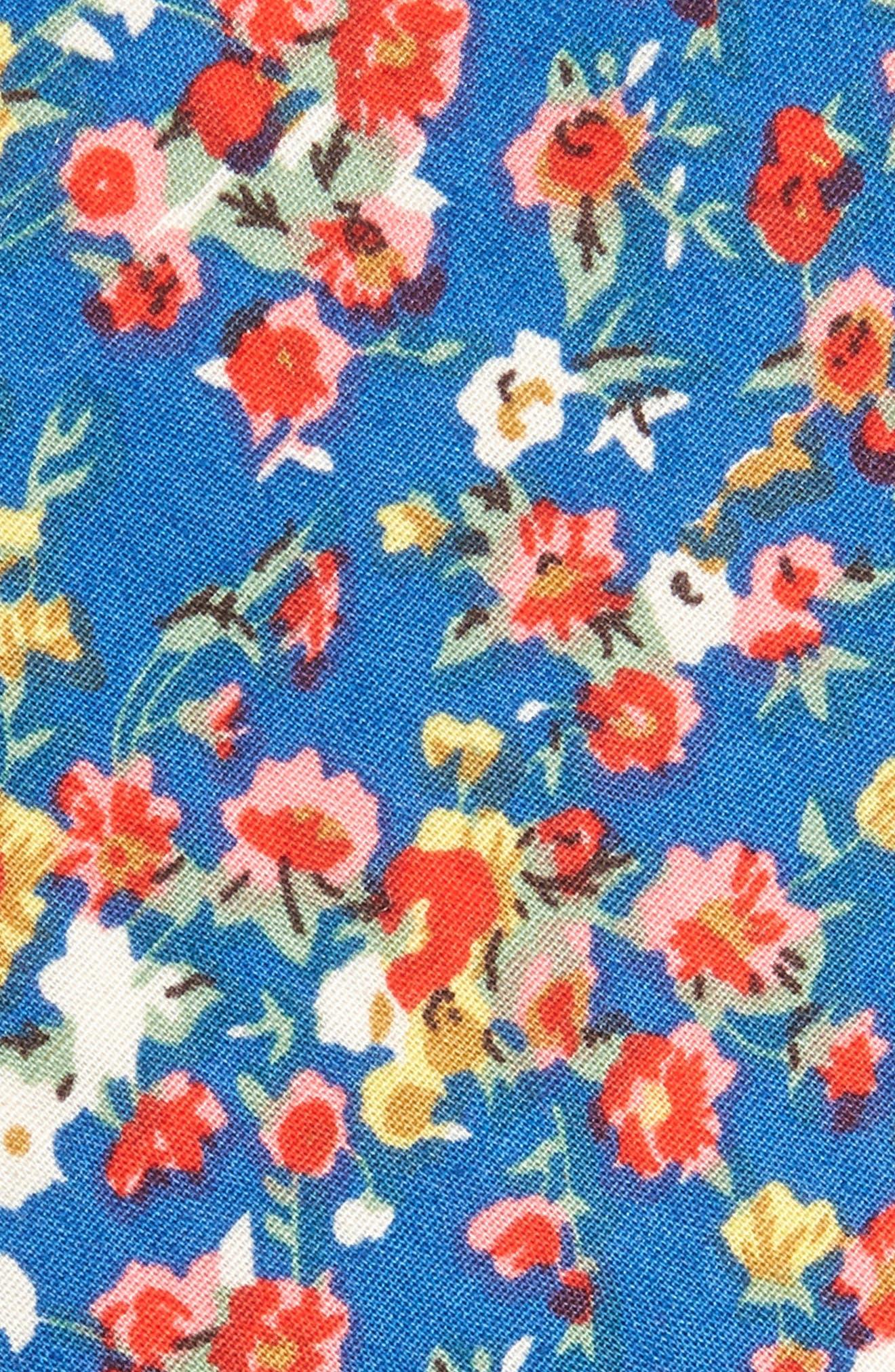 Ager Floral Cotton Tie,                             Alternate thumbnail 2, color,                             NAVY