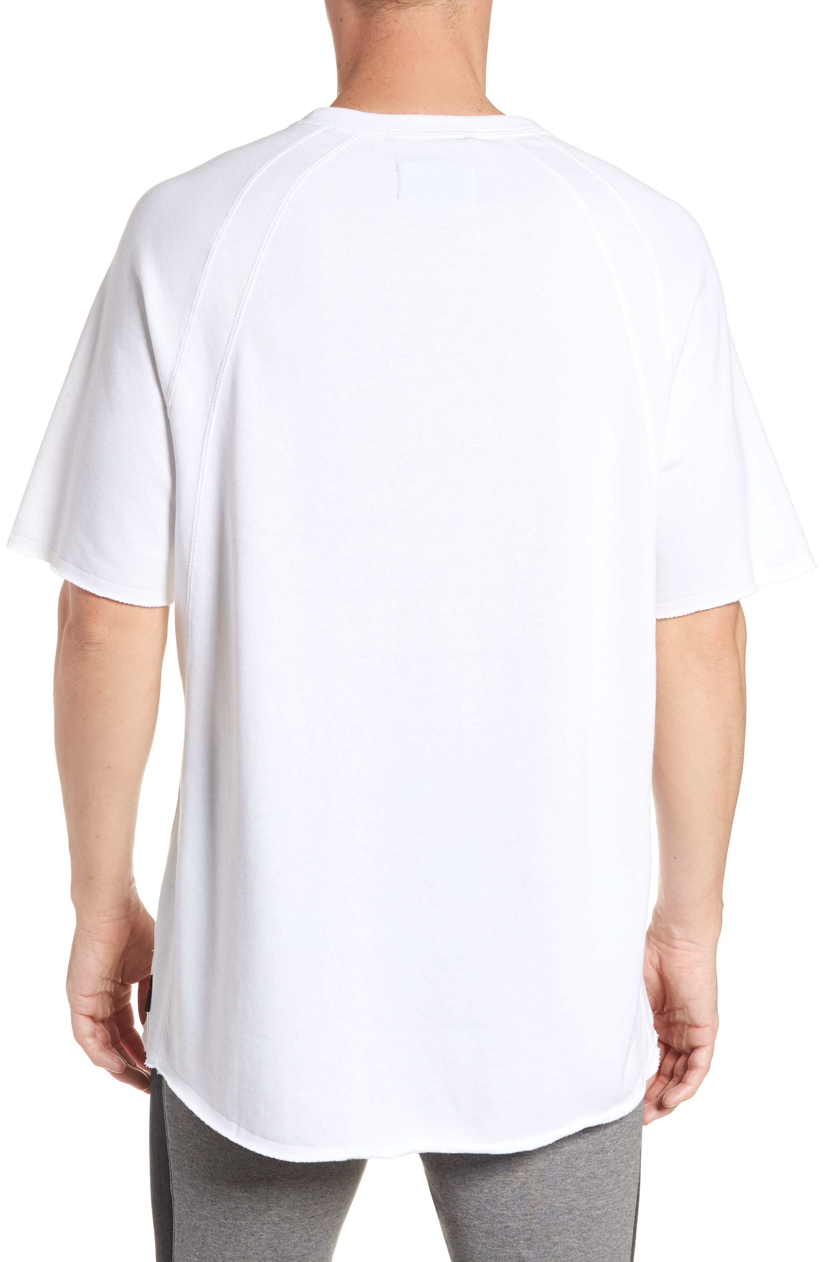 JORDAN,                             Wings Light Short Sleeve Sweatshirt,                             Alternate thumbnail 2, color,                             WHITE/ BLACK