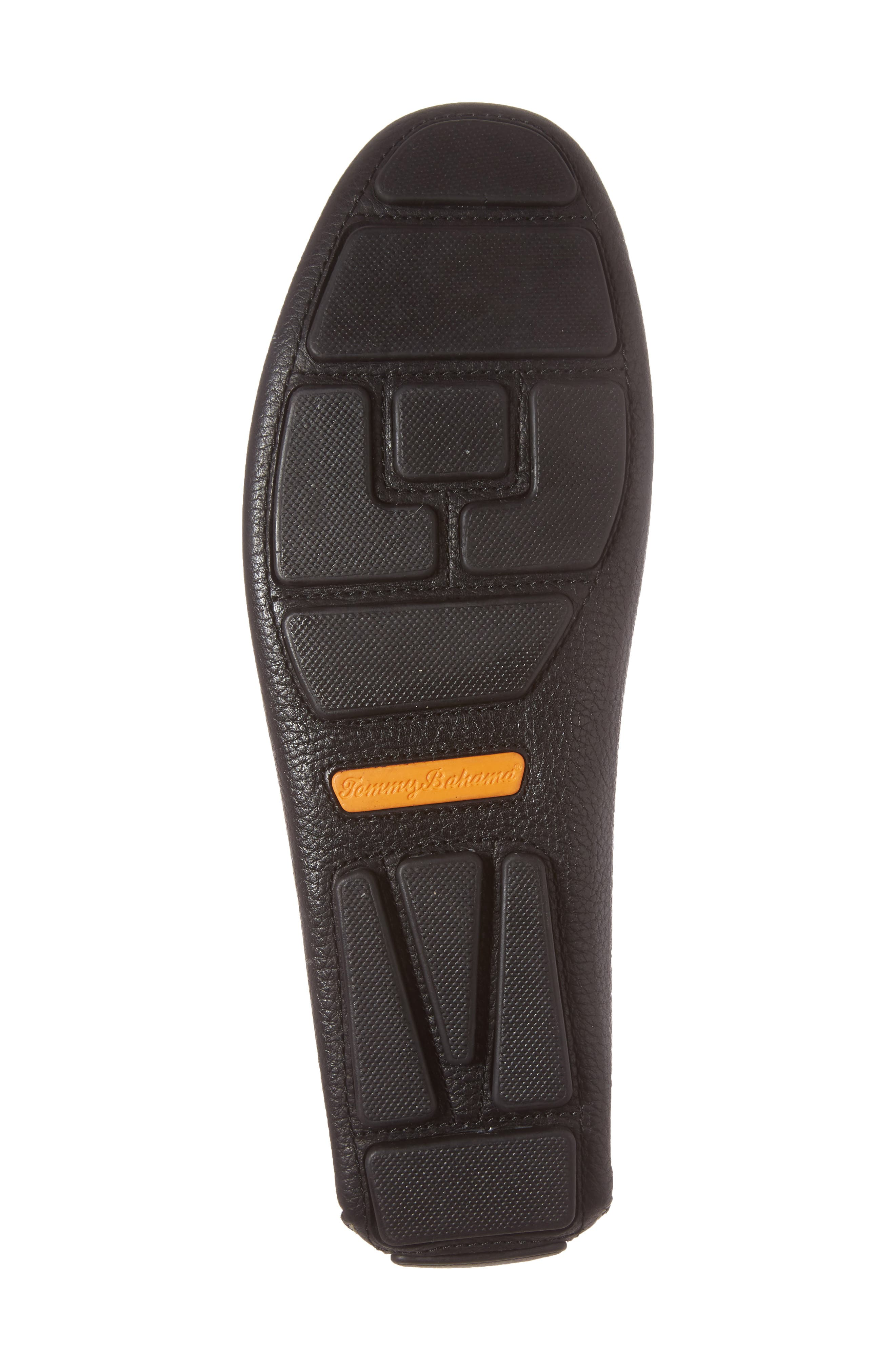 Pagota Driving Loafer,                             Alternate thumbnail 6, color,                             BLACK LEATHER