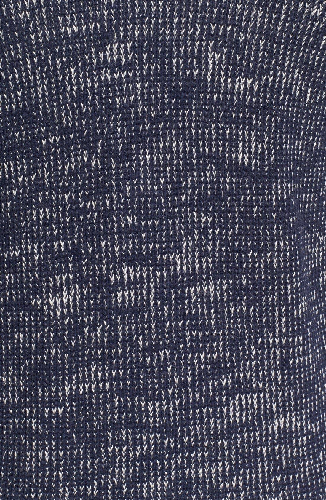 Two-Way Zip Mélange Sweater,                             Alternate thumbnail 5, color,                             410