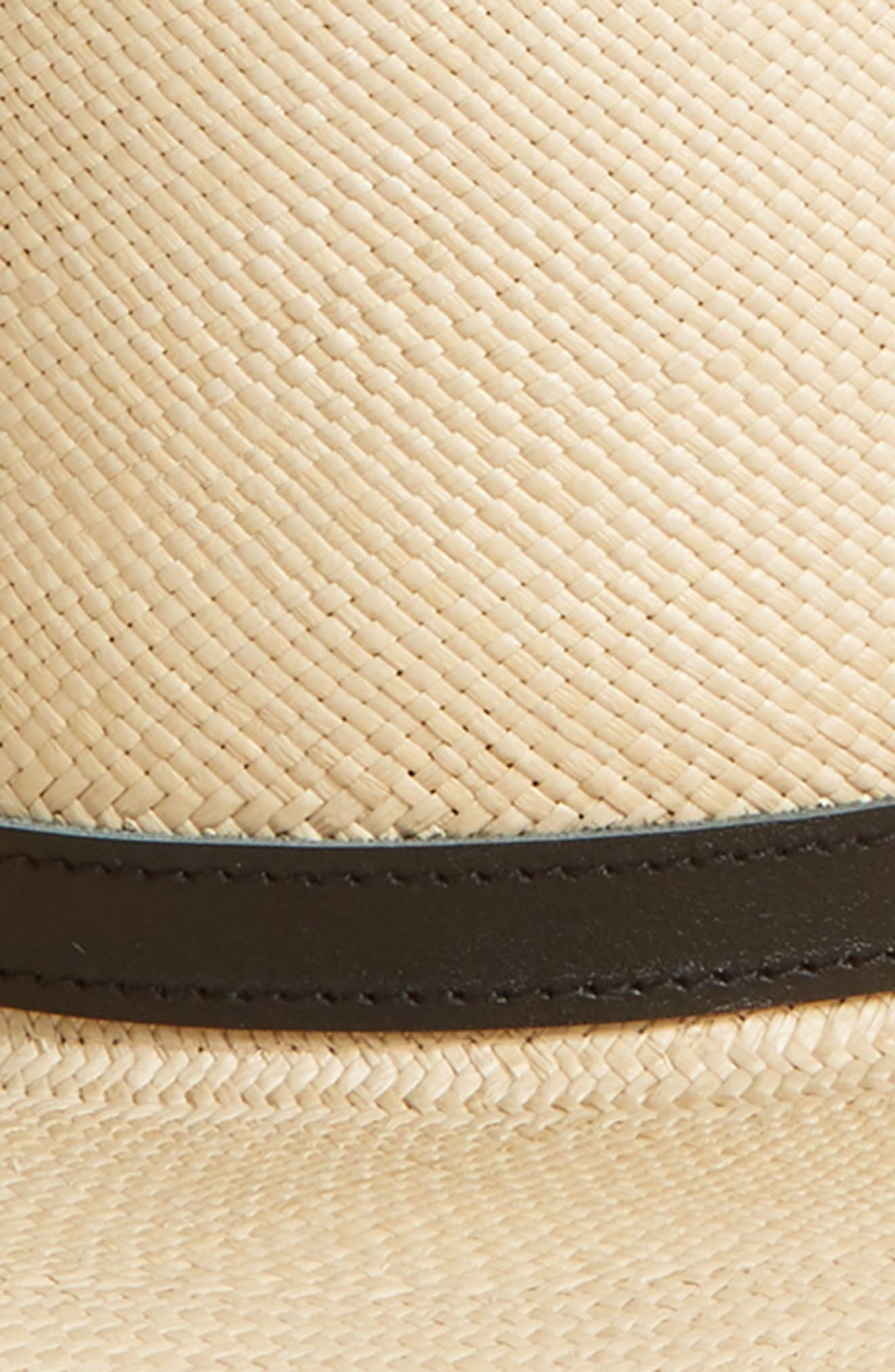 Woven Panama Straw Hat,                             Alternate thumbnail 2, color,                             TANNED