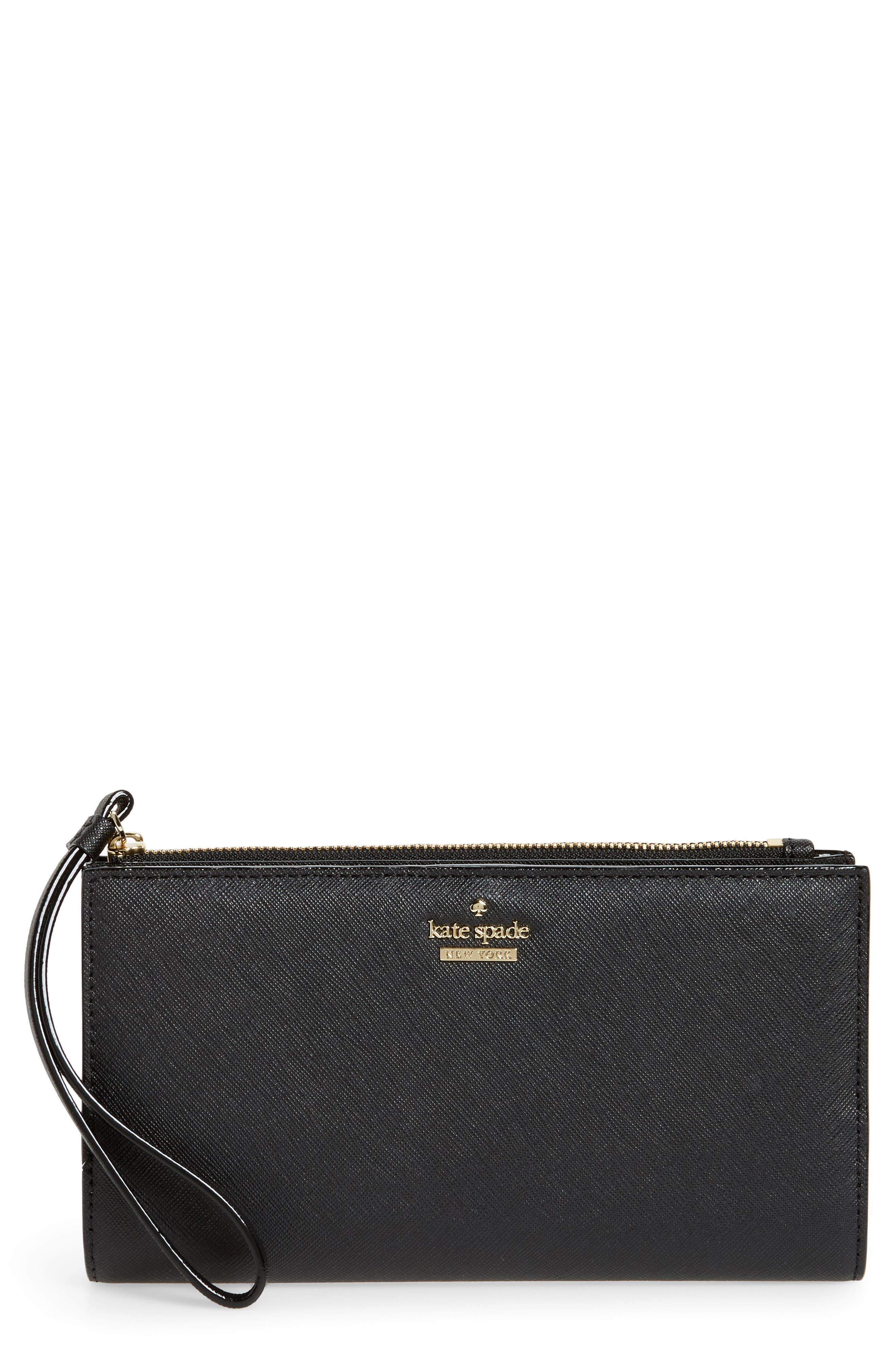 cameron street - eliza leather wallet,                             Main thumbnail 1, color,                             BLACK