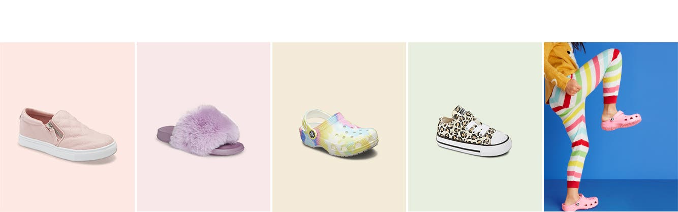 Girls' shoes for spring and summer.