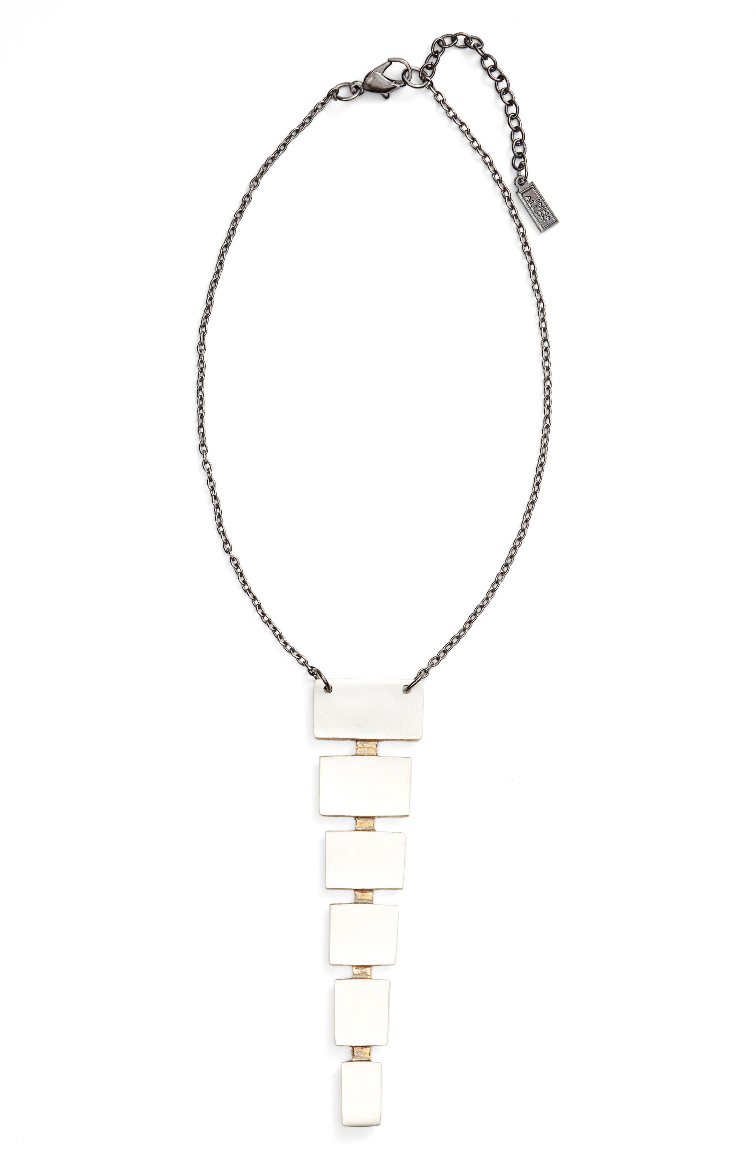 Block Pendant Necklace,                         Main,                         color,