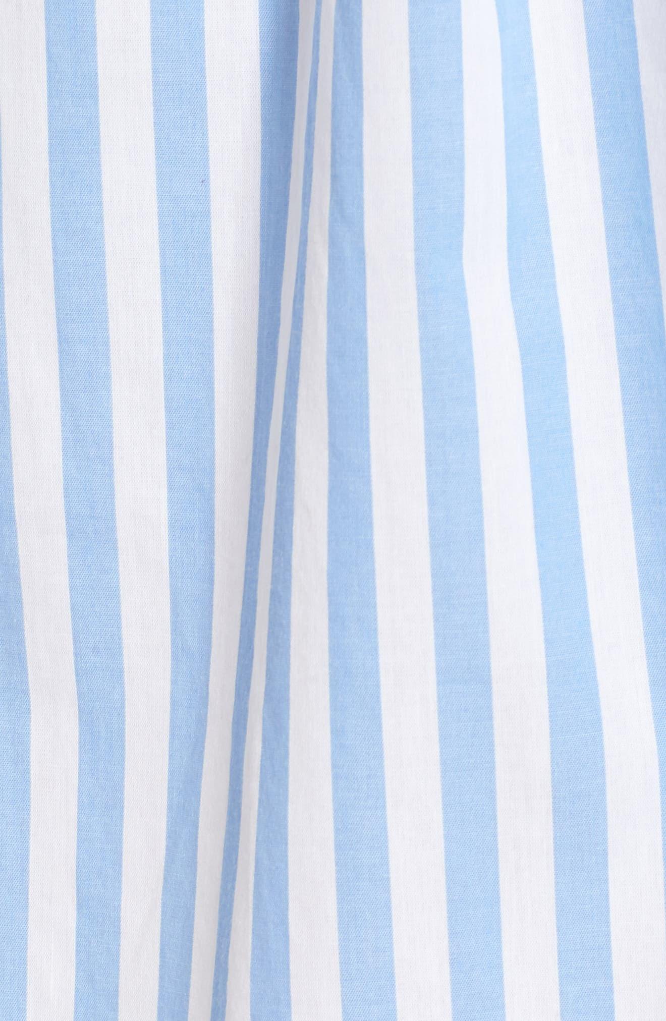 Off the Shoulder Stripe Minidress,                             Alternate thumbnail 5, color,                             100
