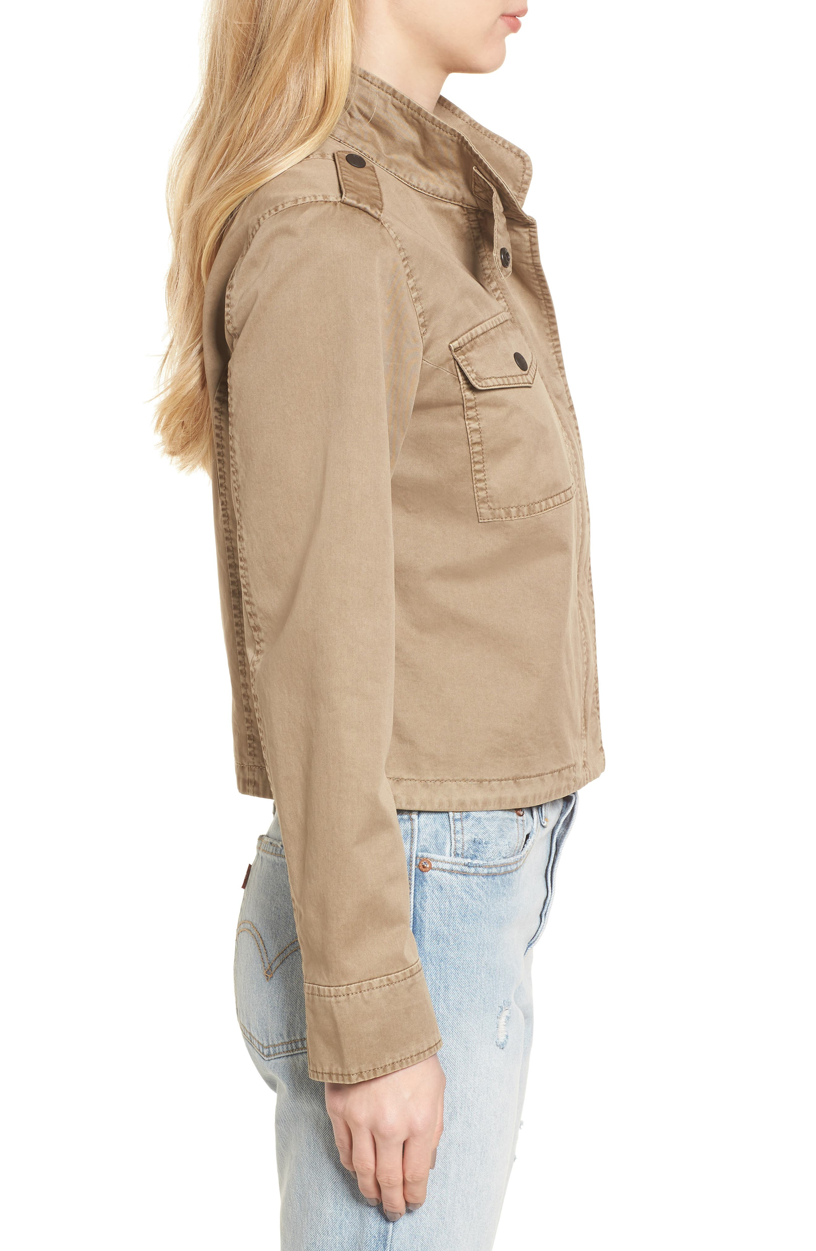Crop Military Jacket,                             Alternate thumbnail 13, color,