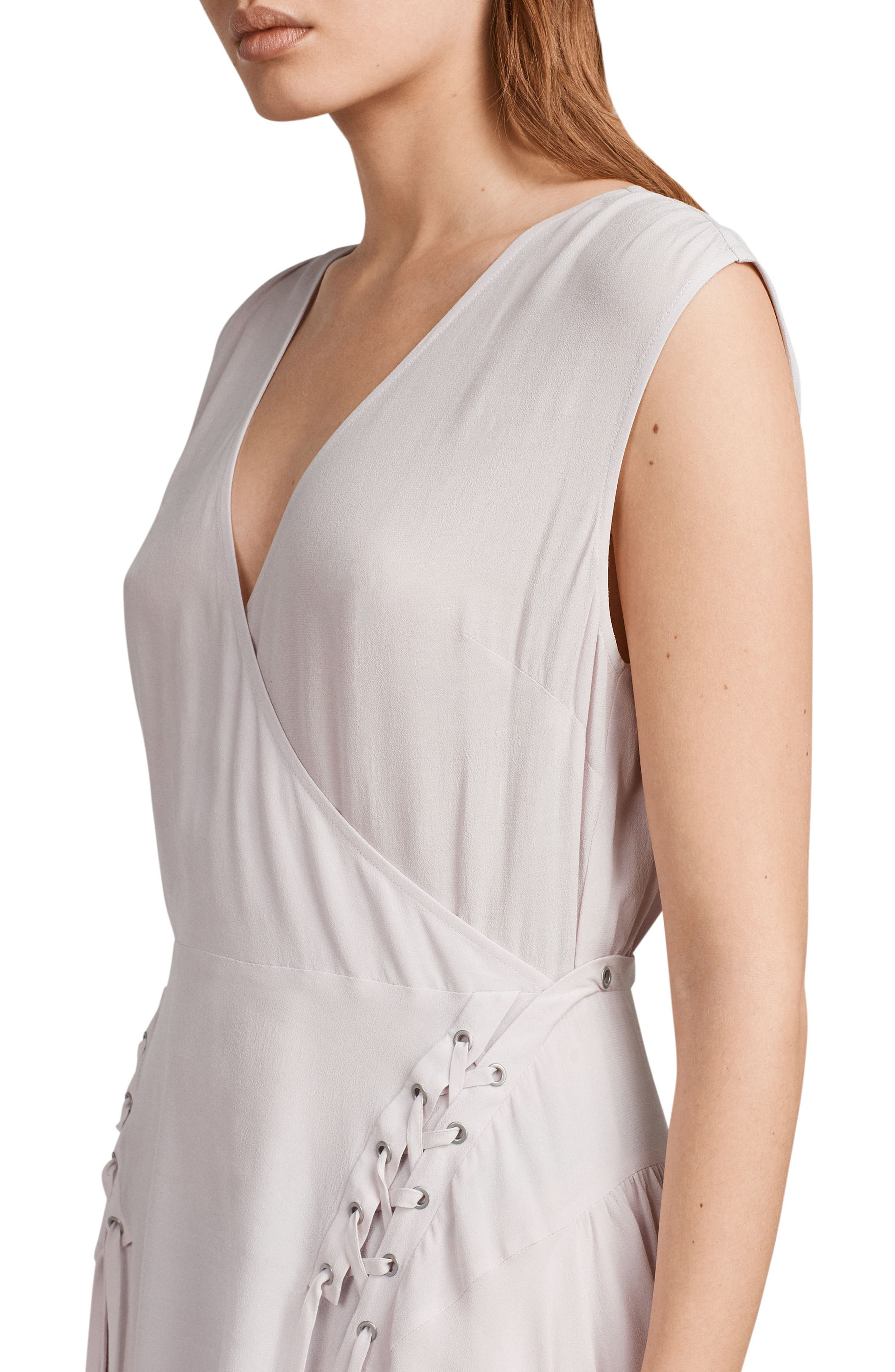 Miller Lace-Up Dress,                             Alternate thumbnail 4, color,                             691