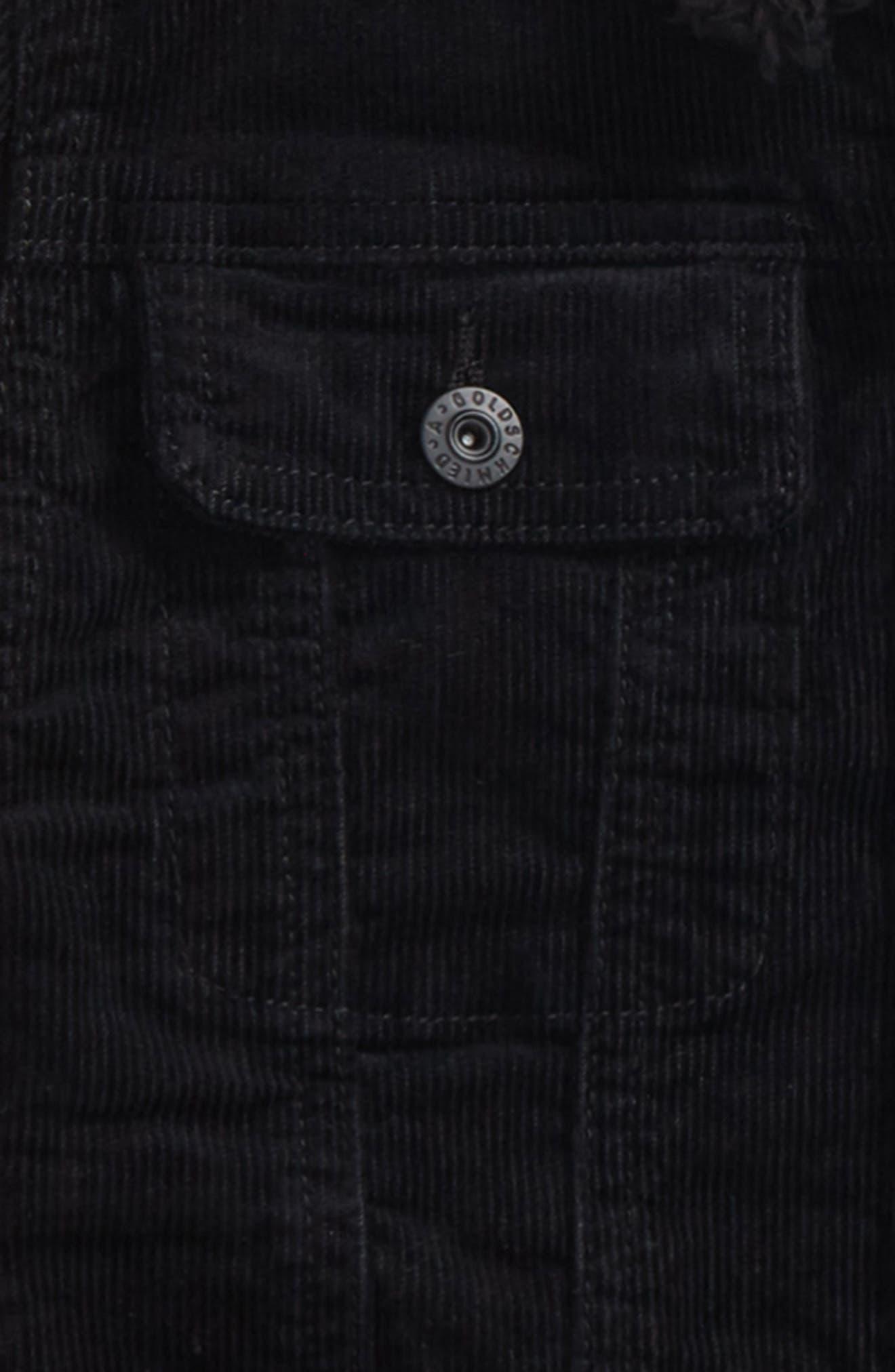 Brody Plush Collar Corduroy Jacket Collar,                             Alternate thumbnail 2, color,                             001