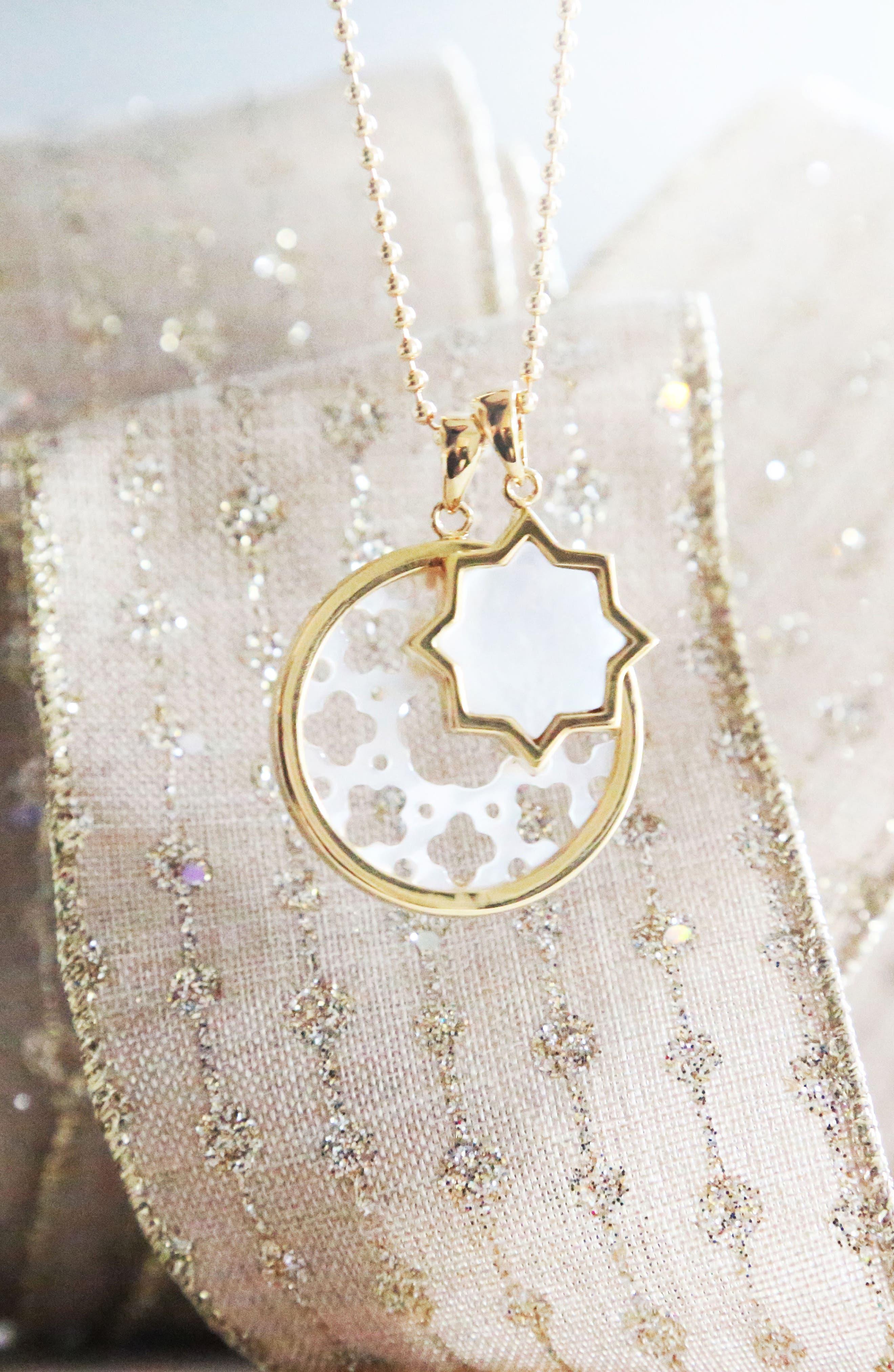 ASHA,                             Carlotta Mother-of-Pearl Long Pendant Necklace,                             Alternate thumbnail 2, color,                             100
