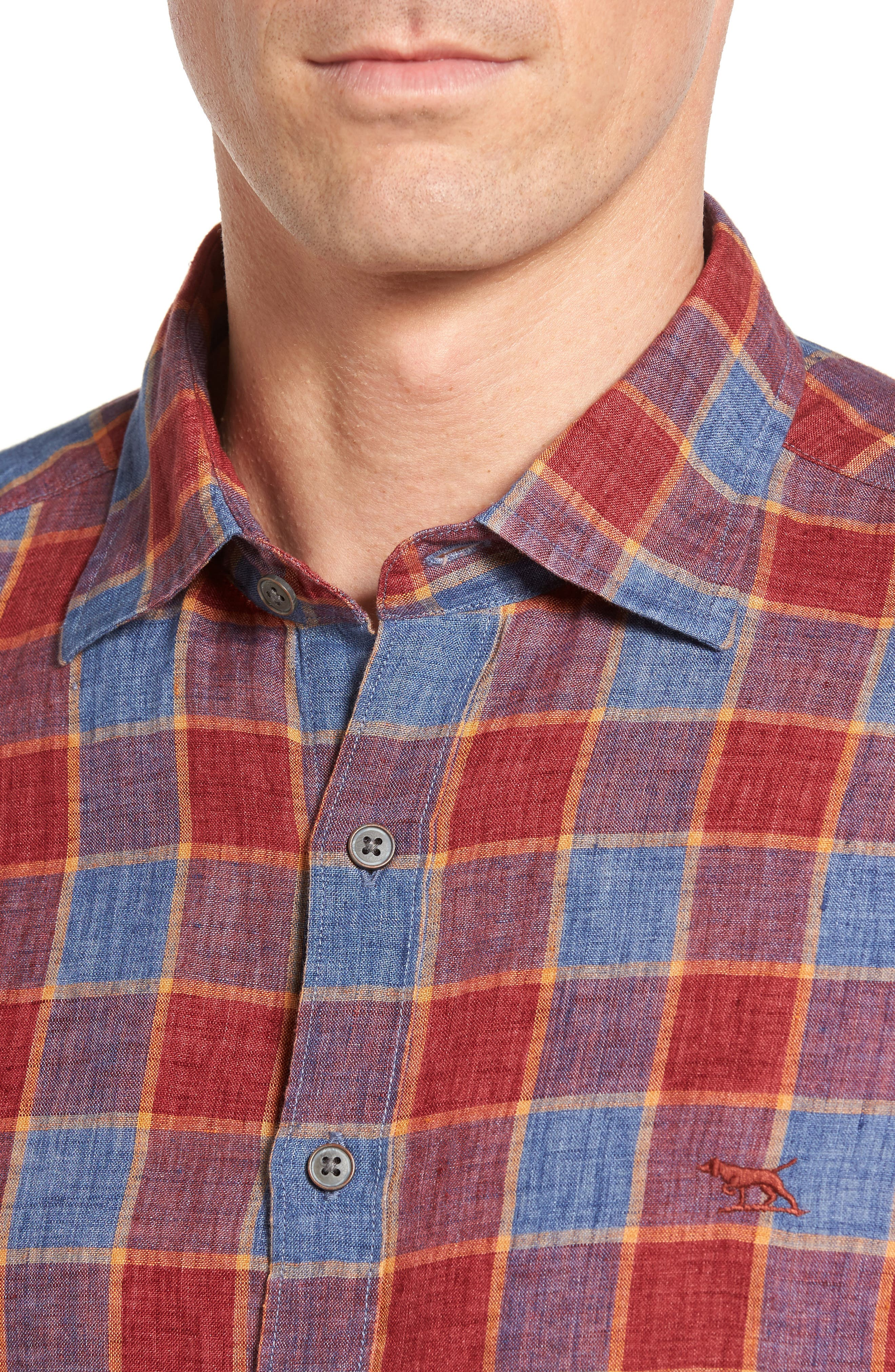 Mason Avenue Linen Sport Shirt,                             Alternate thumbnail 4, color,                             633